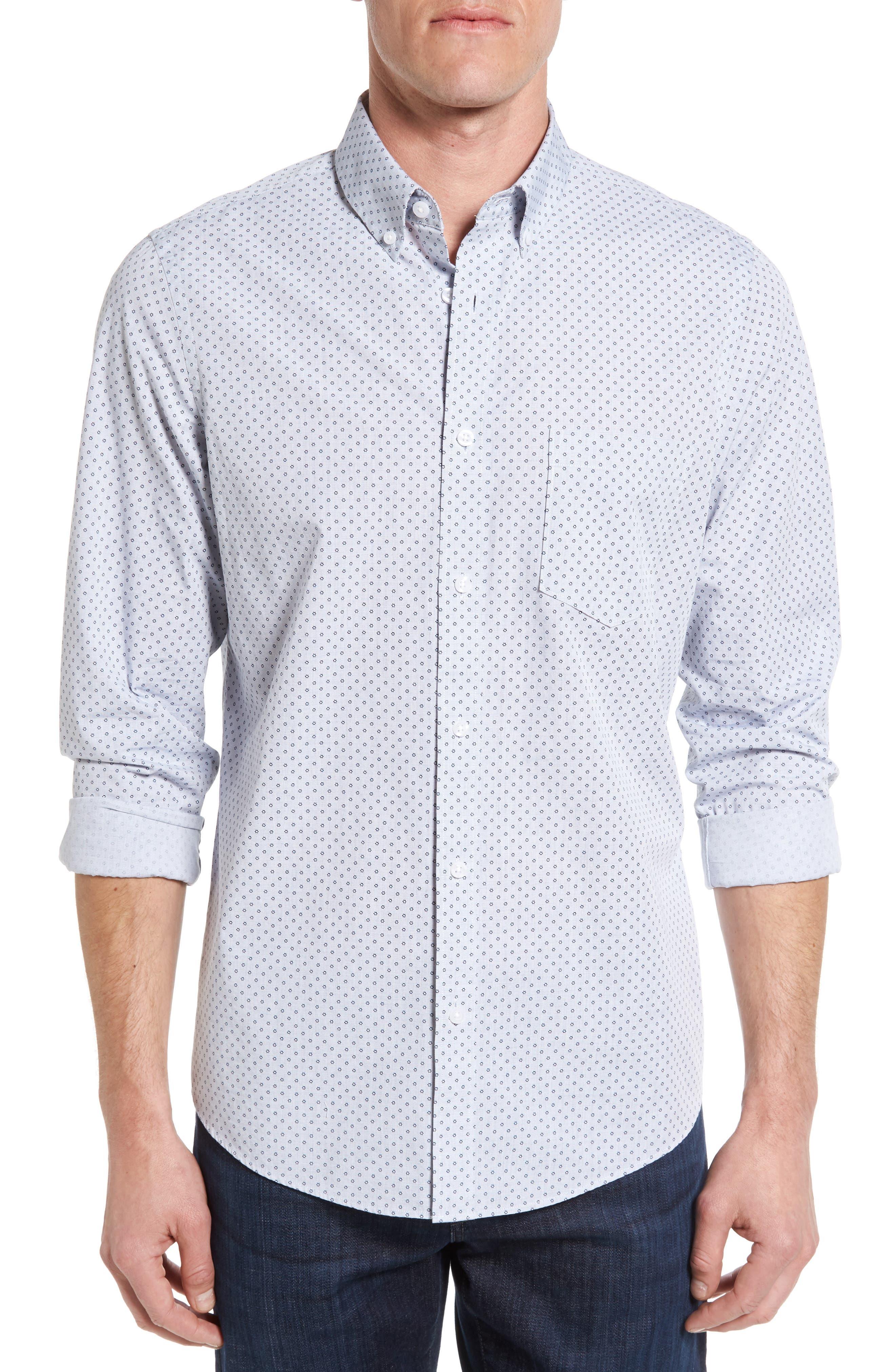 Nordstrom Men's Shop Slim Fit Print Sport Shirt (Regular & Tall)