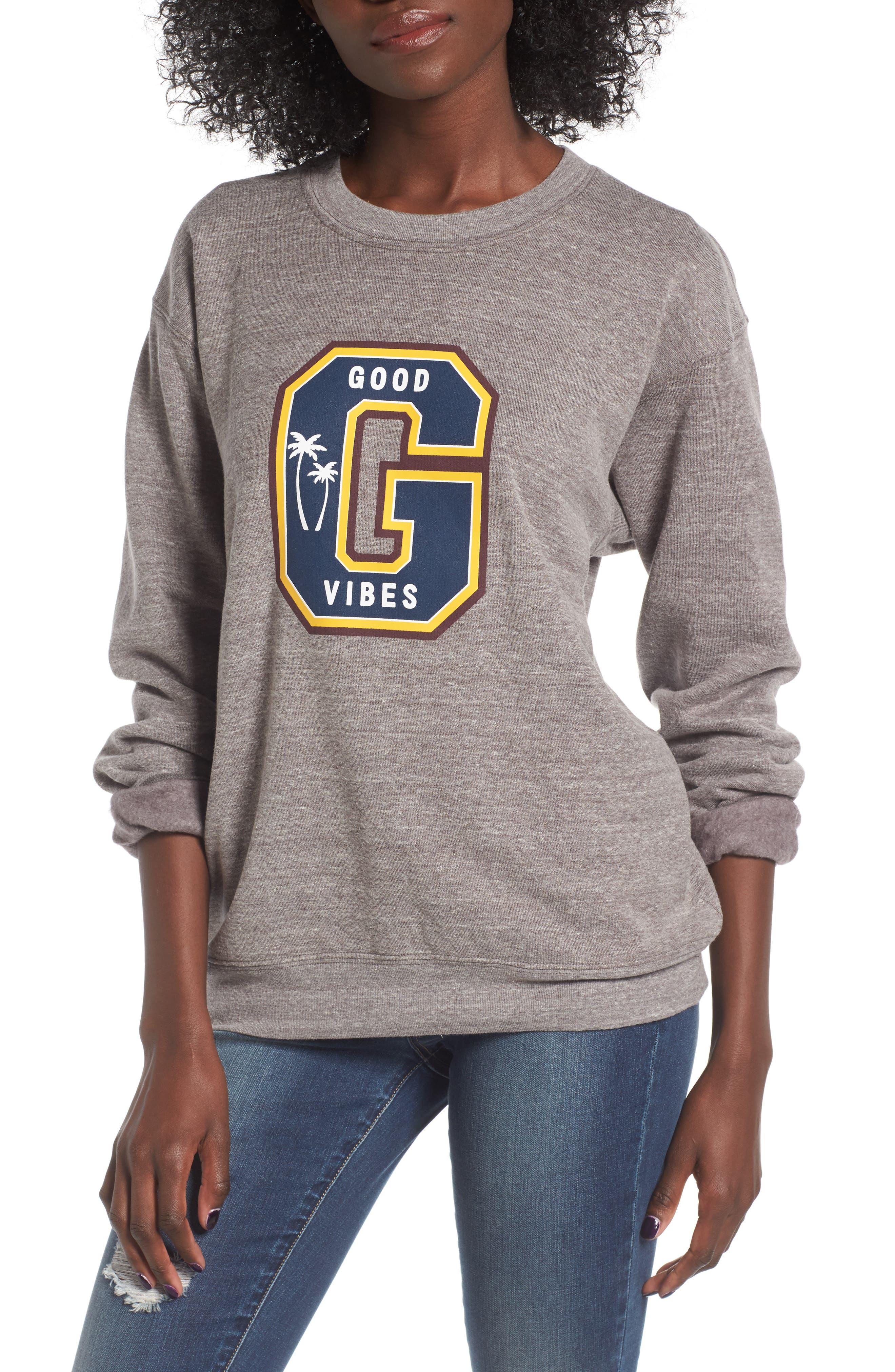 Sub_Urban Riot Good Vibes Varsity Sweatshirt