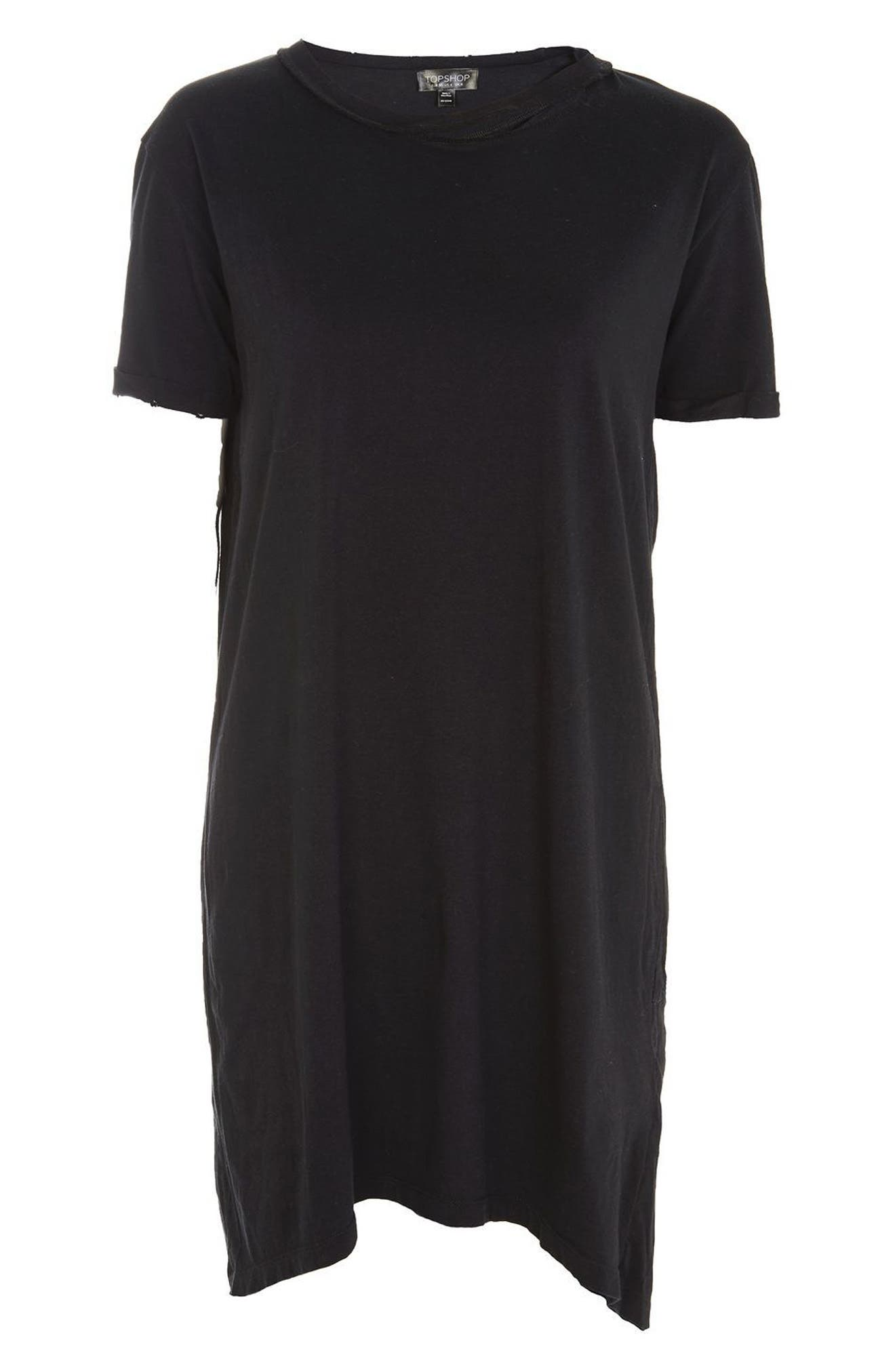Alternate Image 4  - Topshop Split Neck T-Shirt Dress