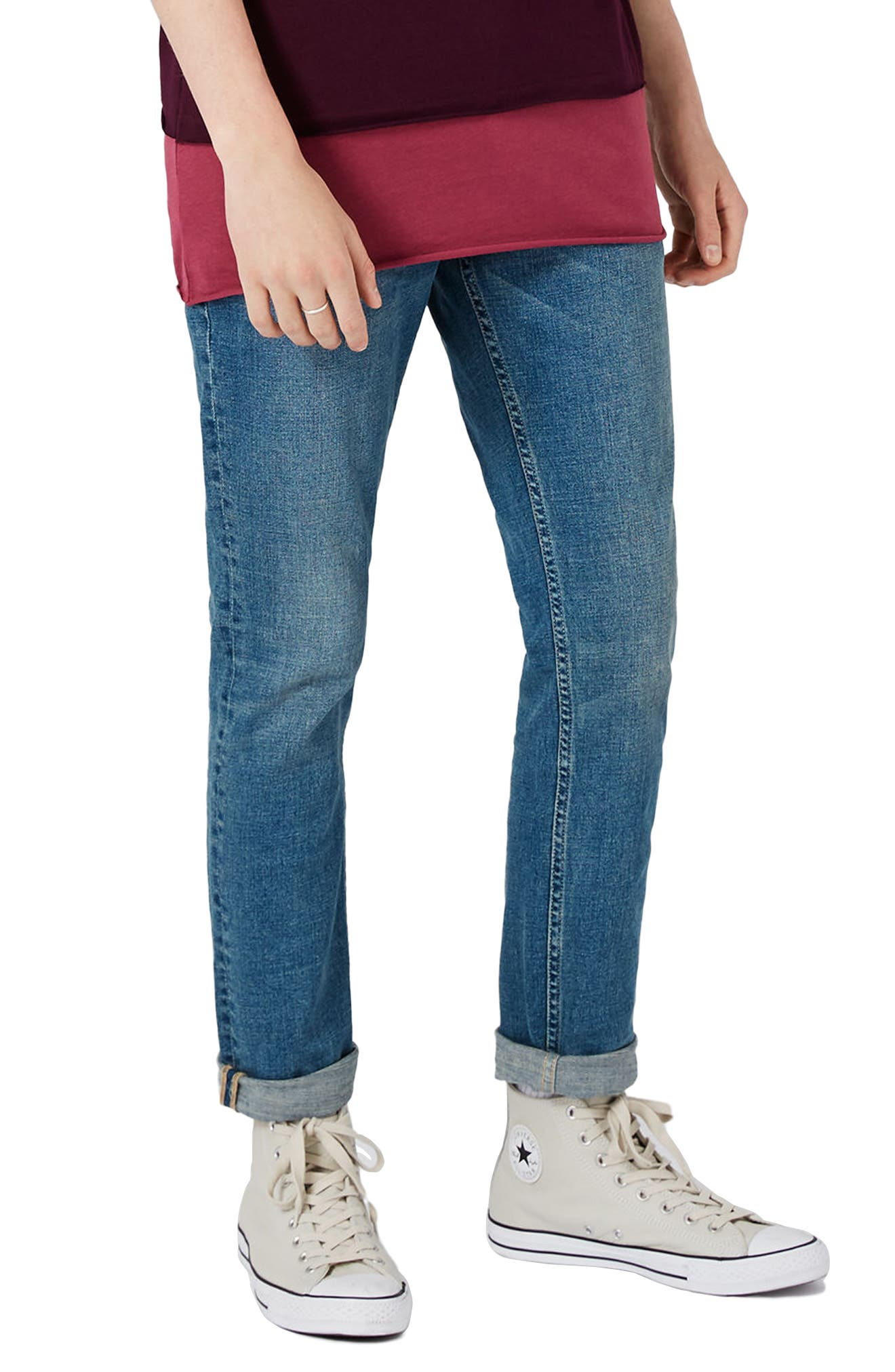 Alternate Image 1 Selected - Topman Stretch Slim Fit Jeans