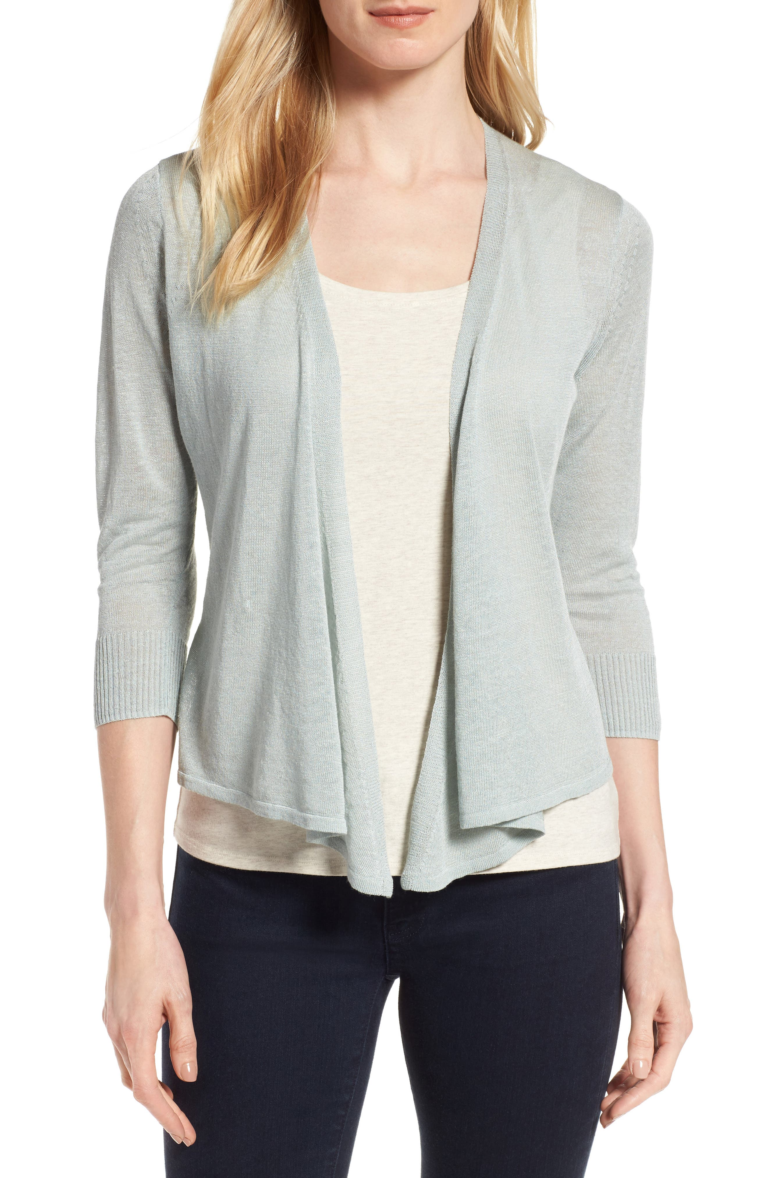 NIC+ZOE '4-Way' Convertible Three Quarter Sleeve Cardigan (Regular and Petite)
