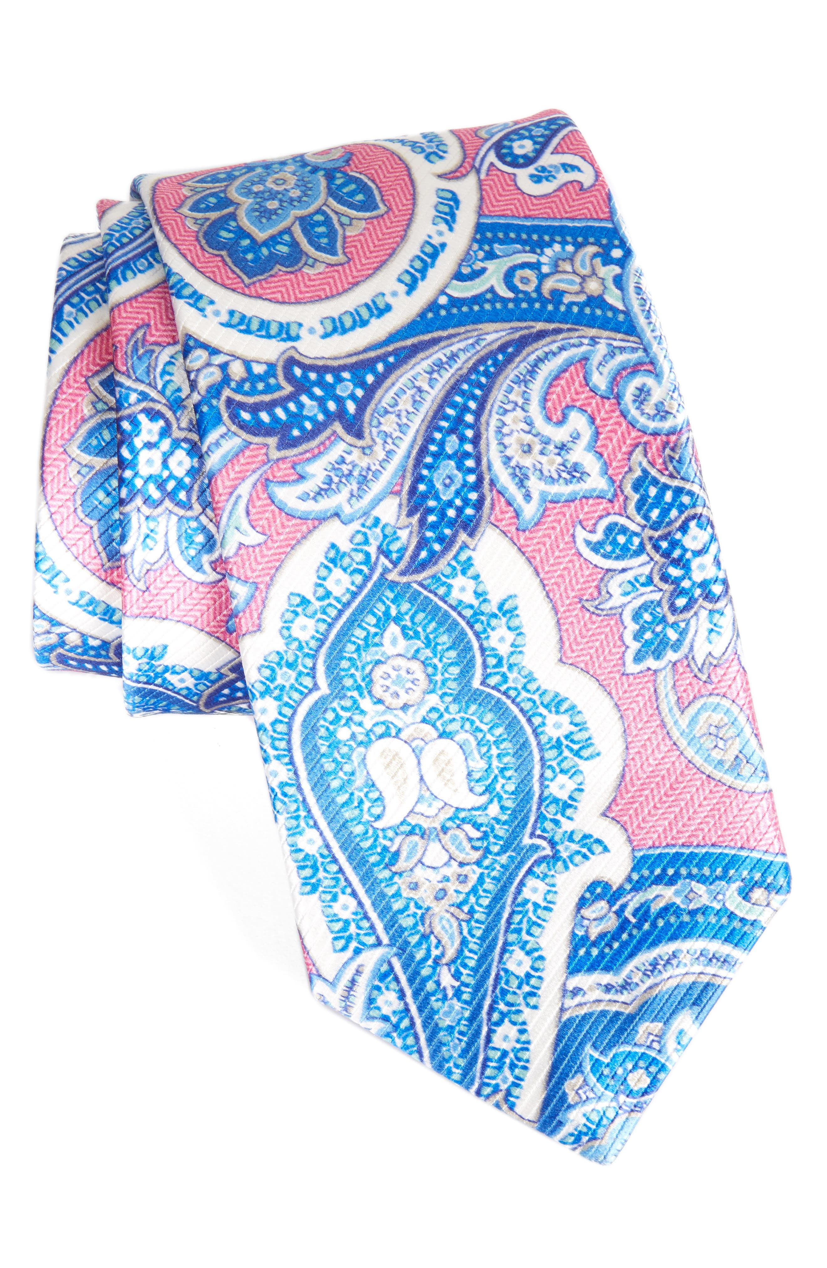 David Donhaue Paisley Silk Tie