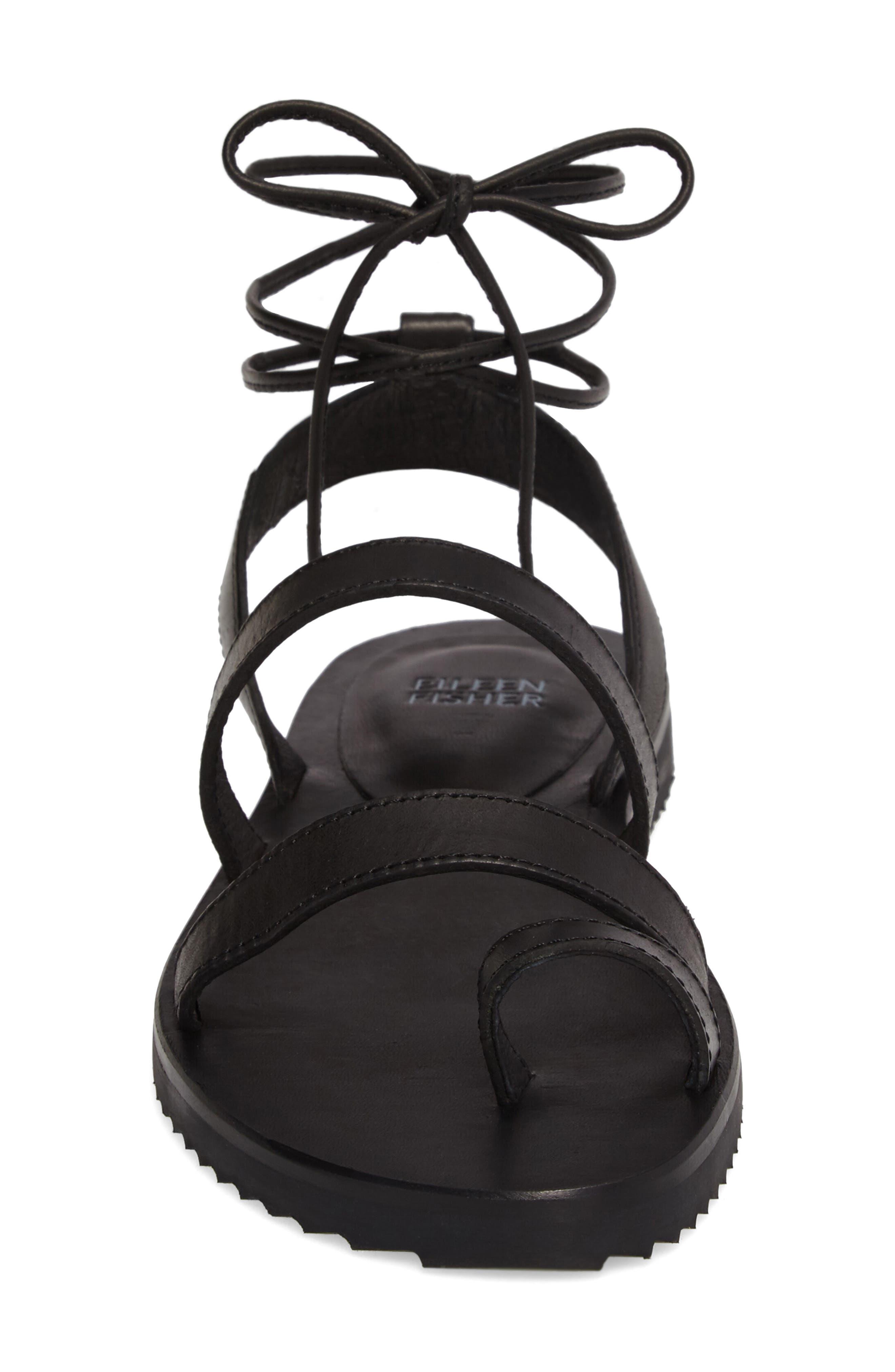 Alternate Image 4  - Eileen Fisher Wales Lace-Up Sandal (Women)