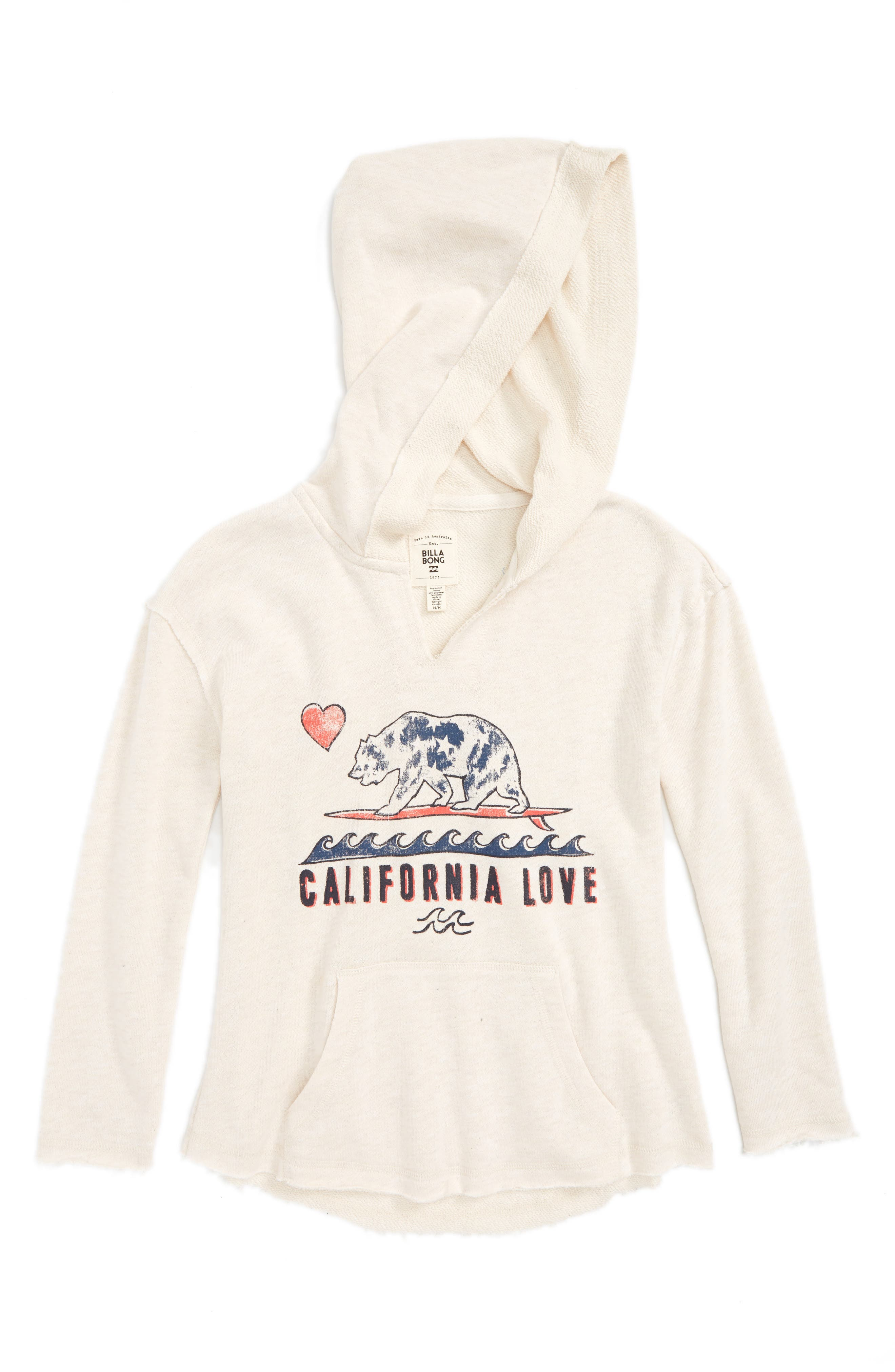 Billabong Cali Love Graphic Hoodie (Little Girls & Big Girls)