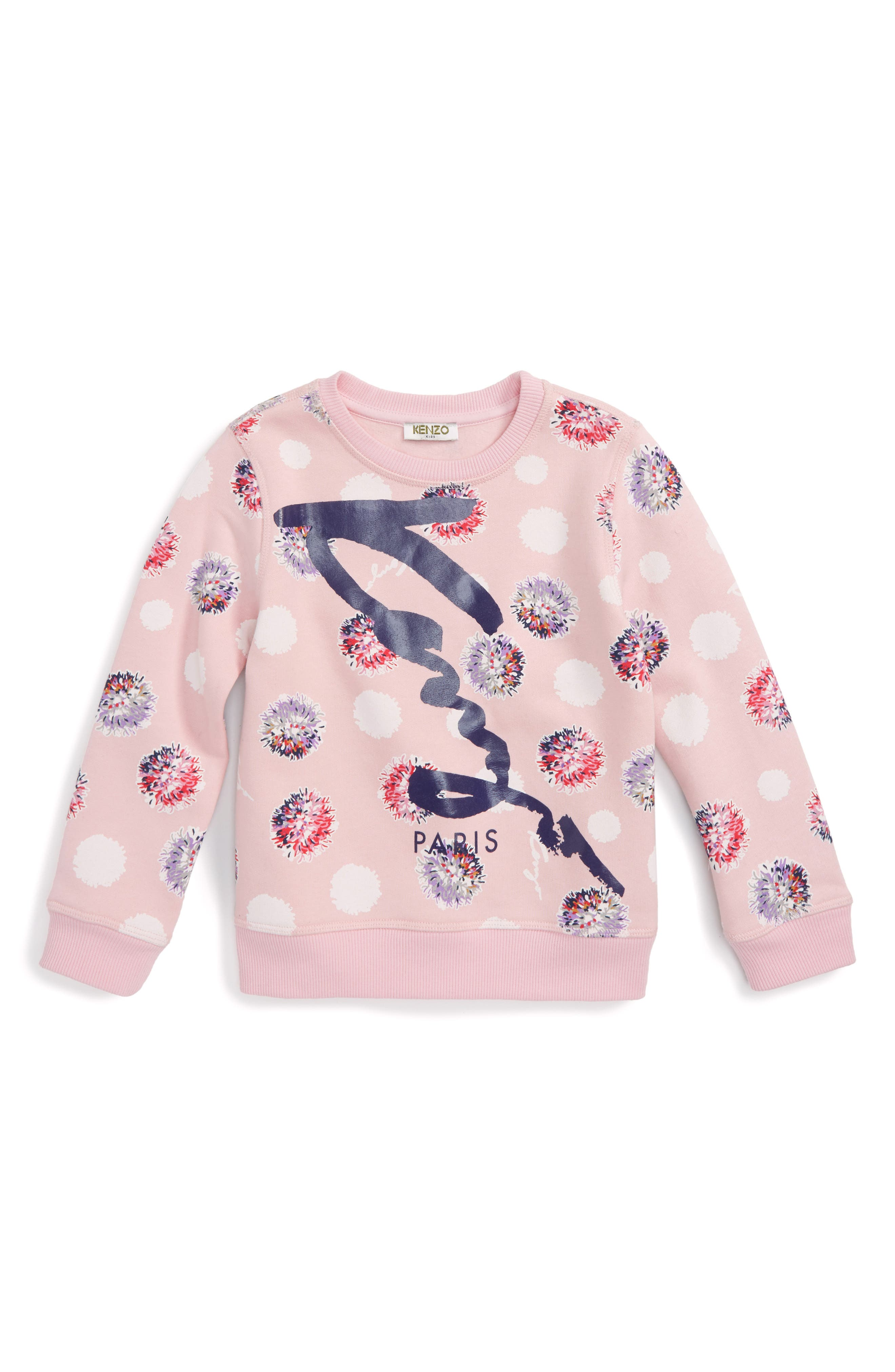KENZO Floral Logo Sweatshirt (Toddler Girls, Little Girls & Big Girls)