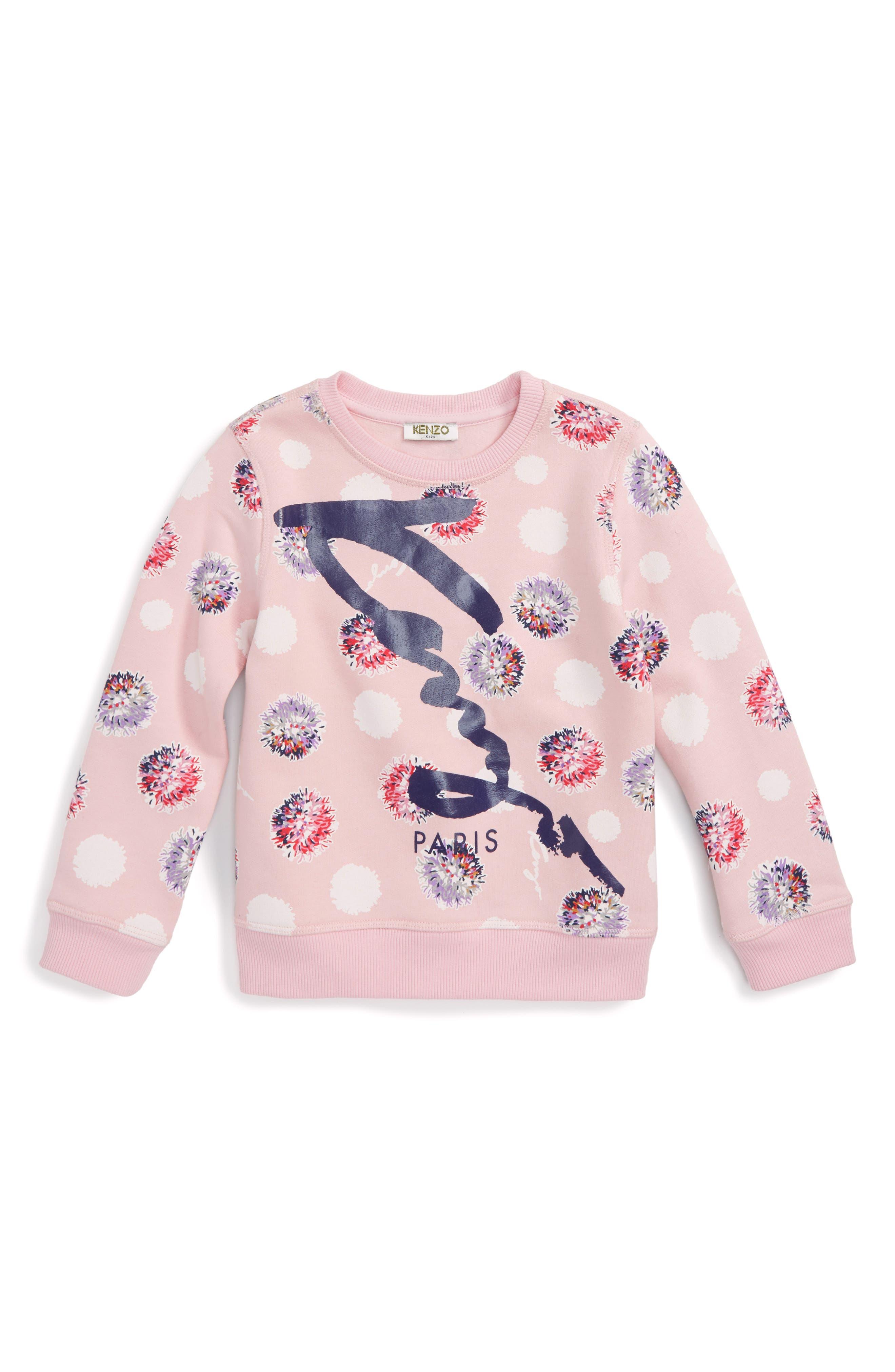KENZO Floral Logo Sweatshirt (Toddler Girls, Little Girls & Big Girls)