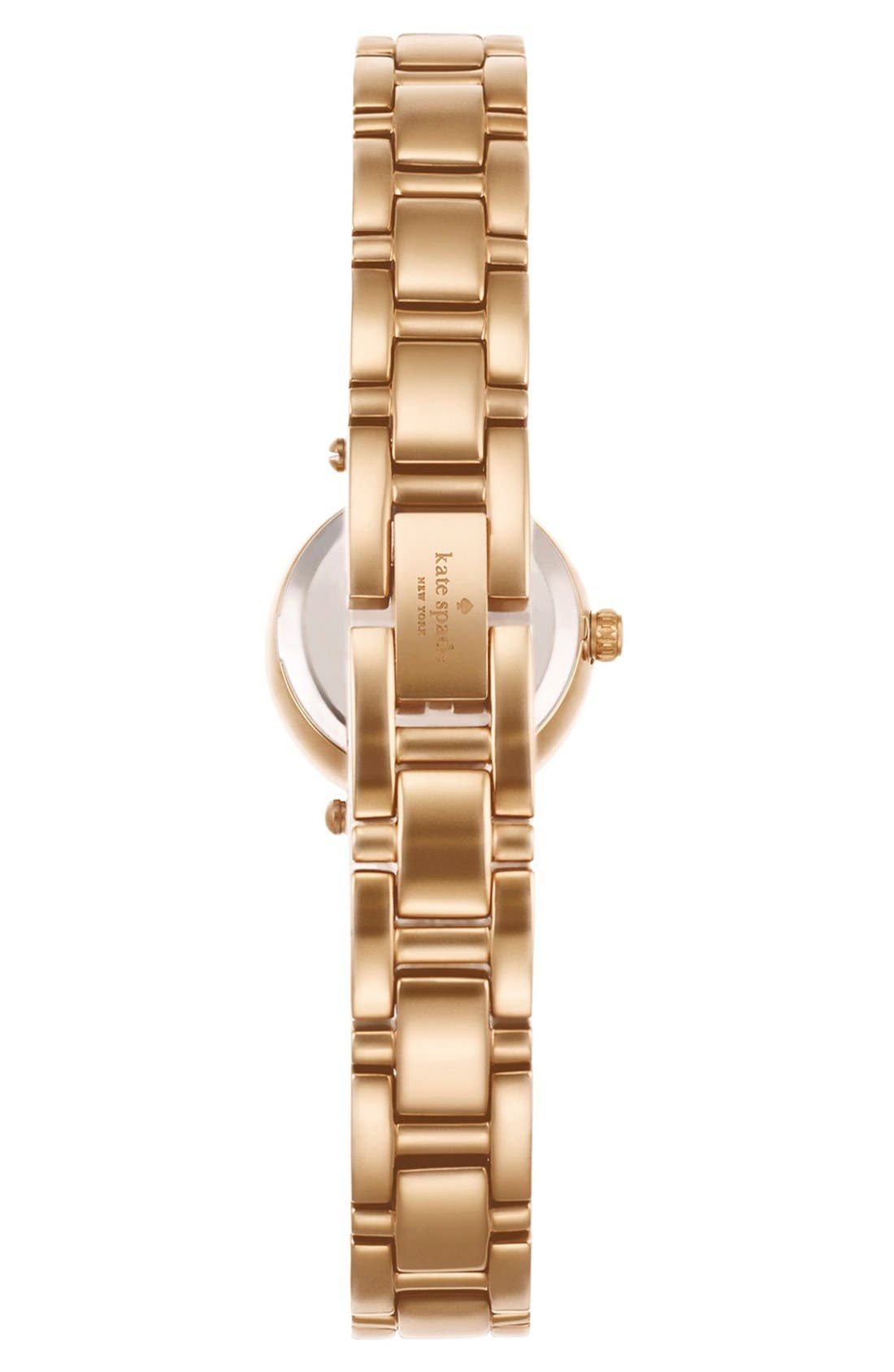 Alternate Image 2  - kate spade new york 'tiny gramercy' crystal bezel bracelet watch, 20mm