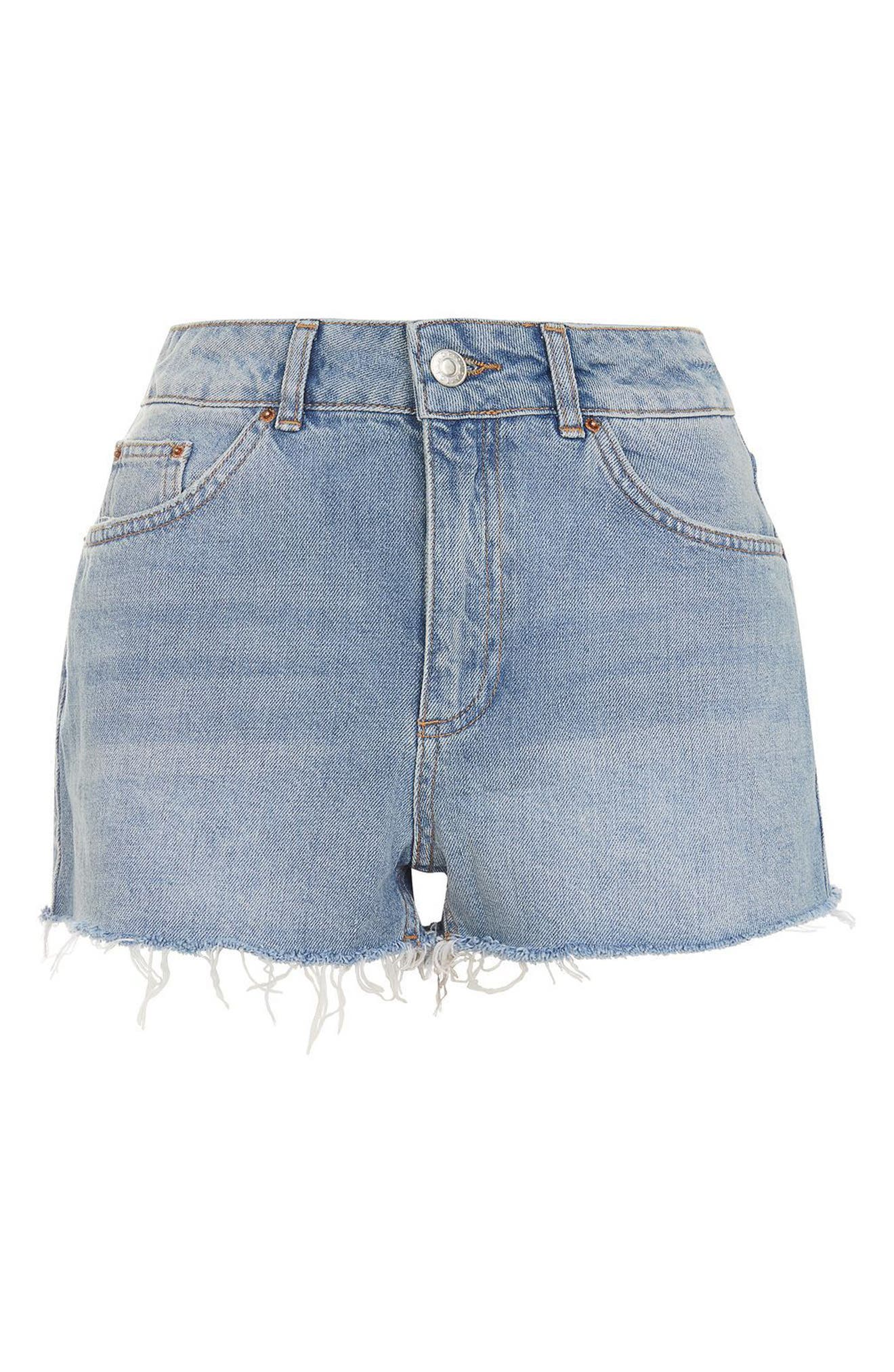 Alternate Image 3  - Topshop Longline Denim Mom Shorts (Petite)