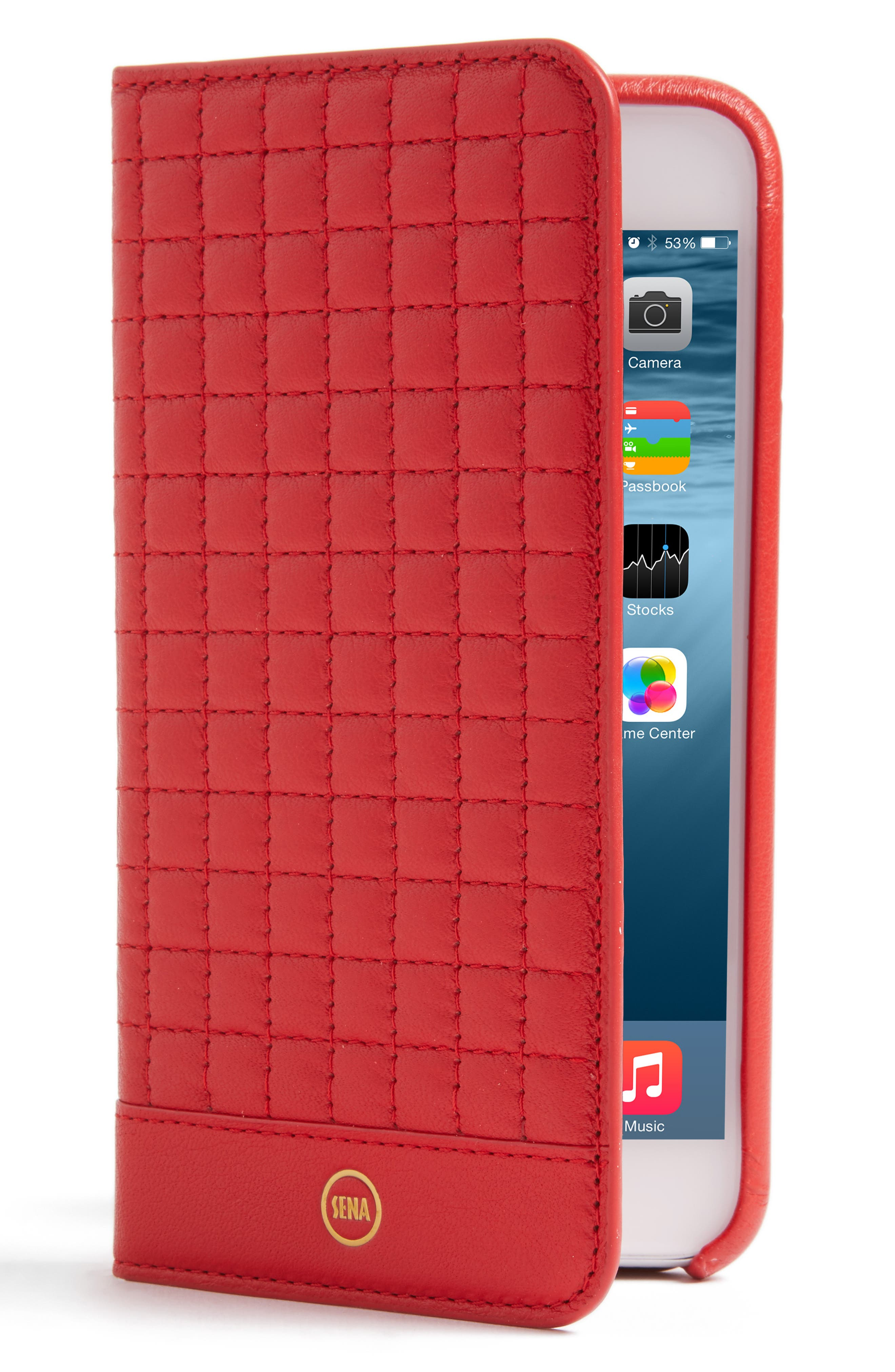 Sena iPhone 7 Plus Quilted Wallet Case