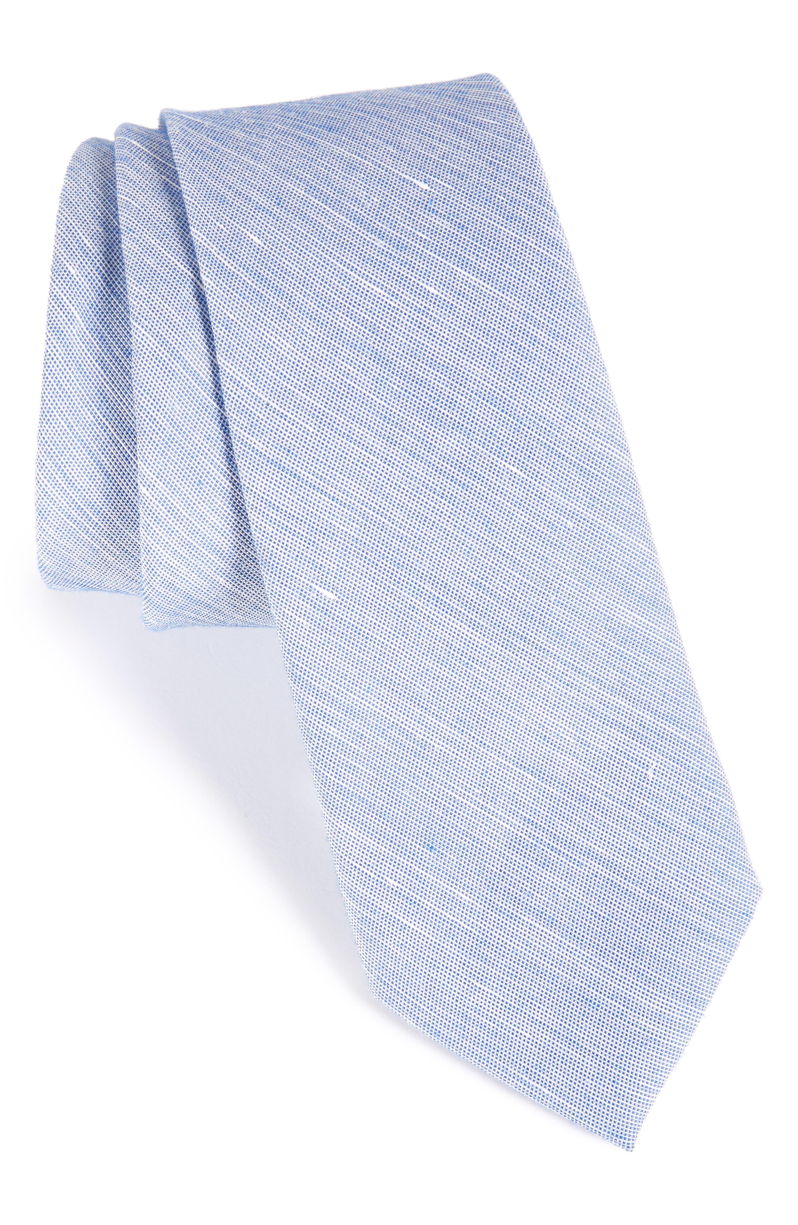 Main Image - Nordstrom Men's Shop Solid Silk Blend Skinny Tie