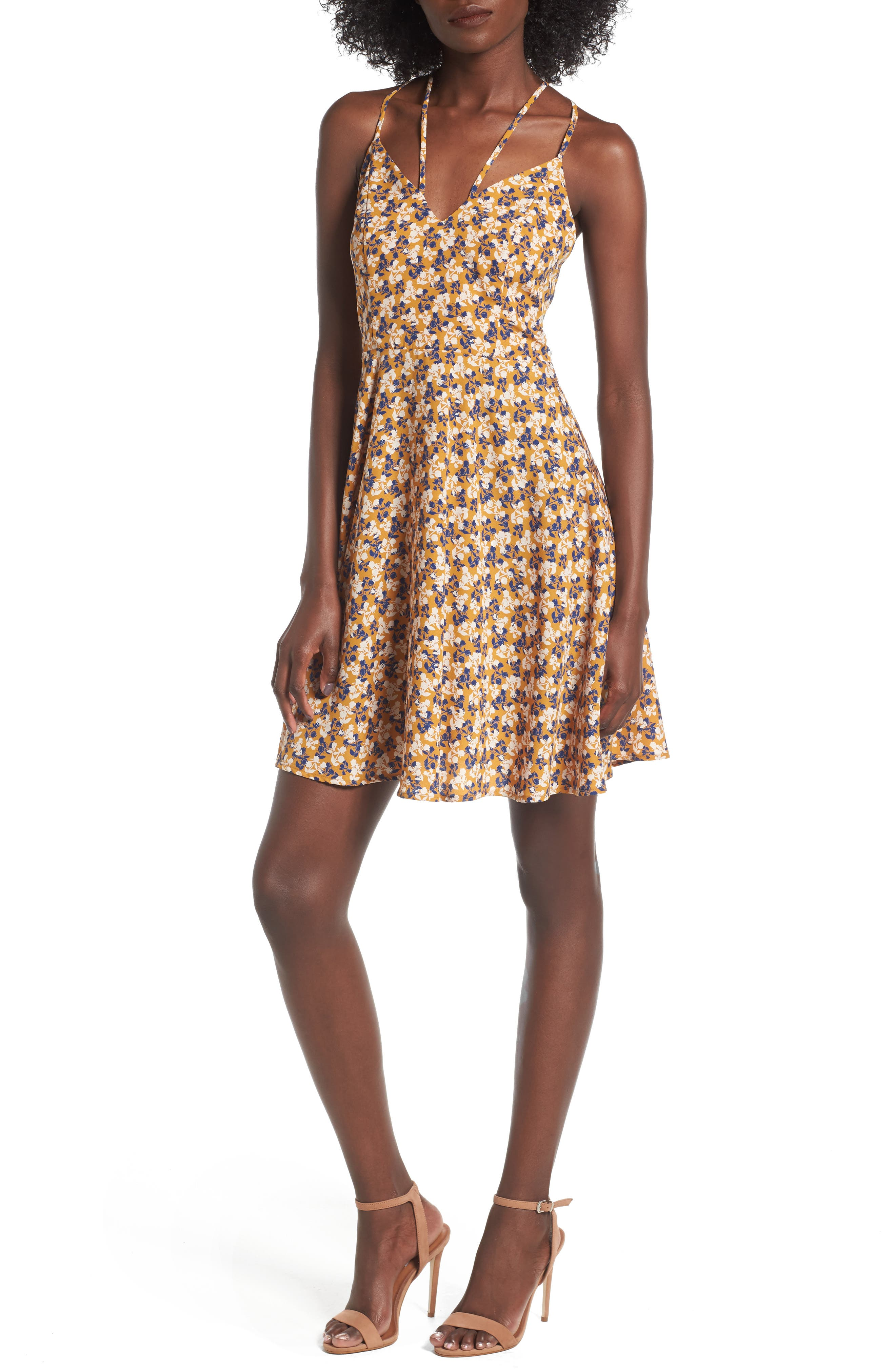 Alternate Image 1 Selected - Soprano Strappy Fit & Flare Dress