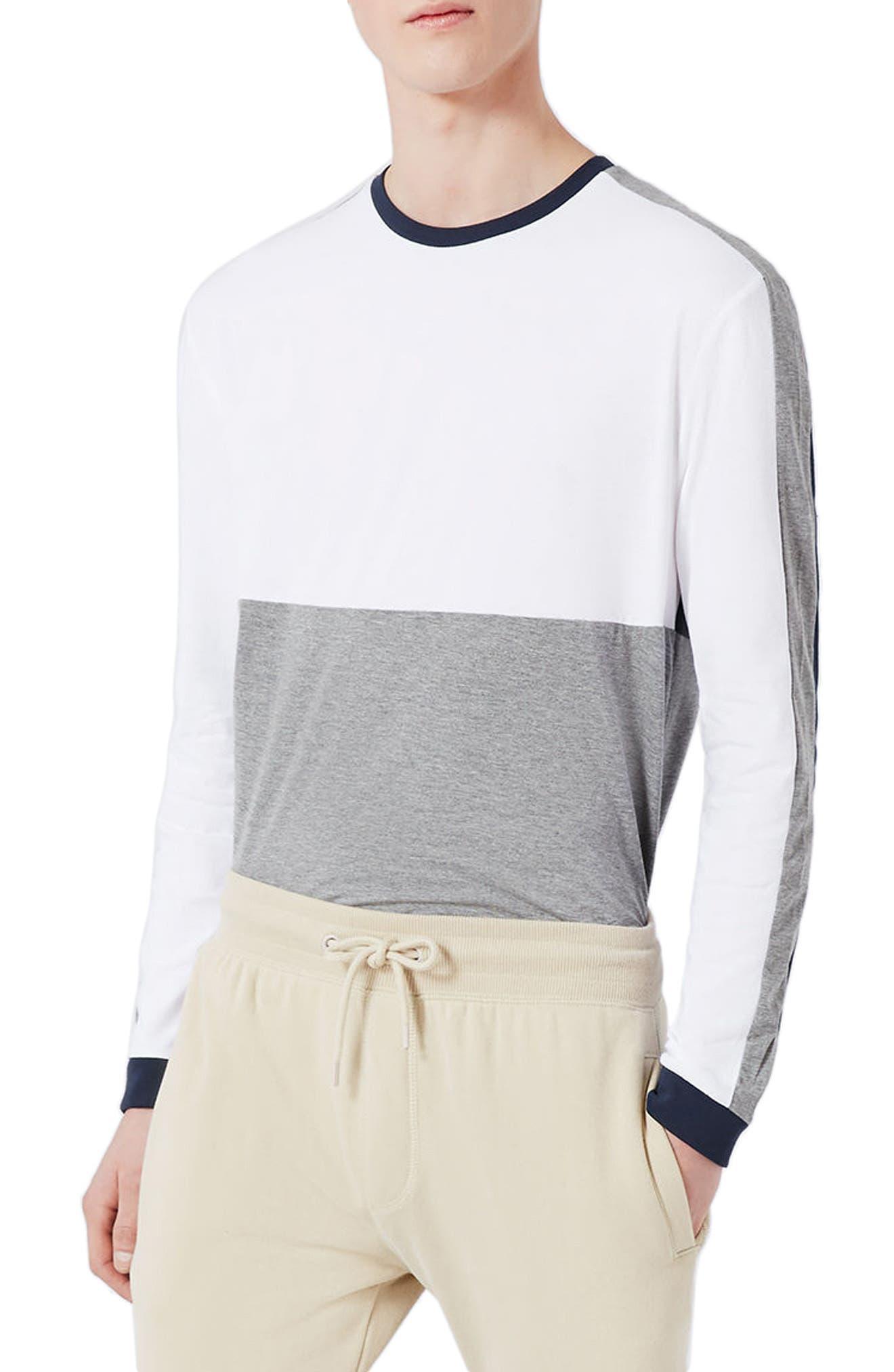 Topman Slim Fit Panel T-Shirt