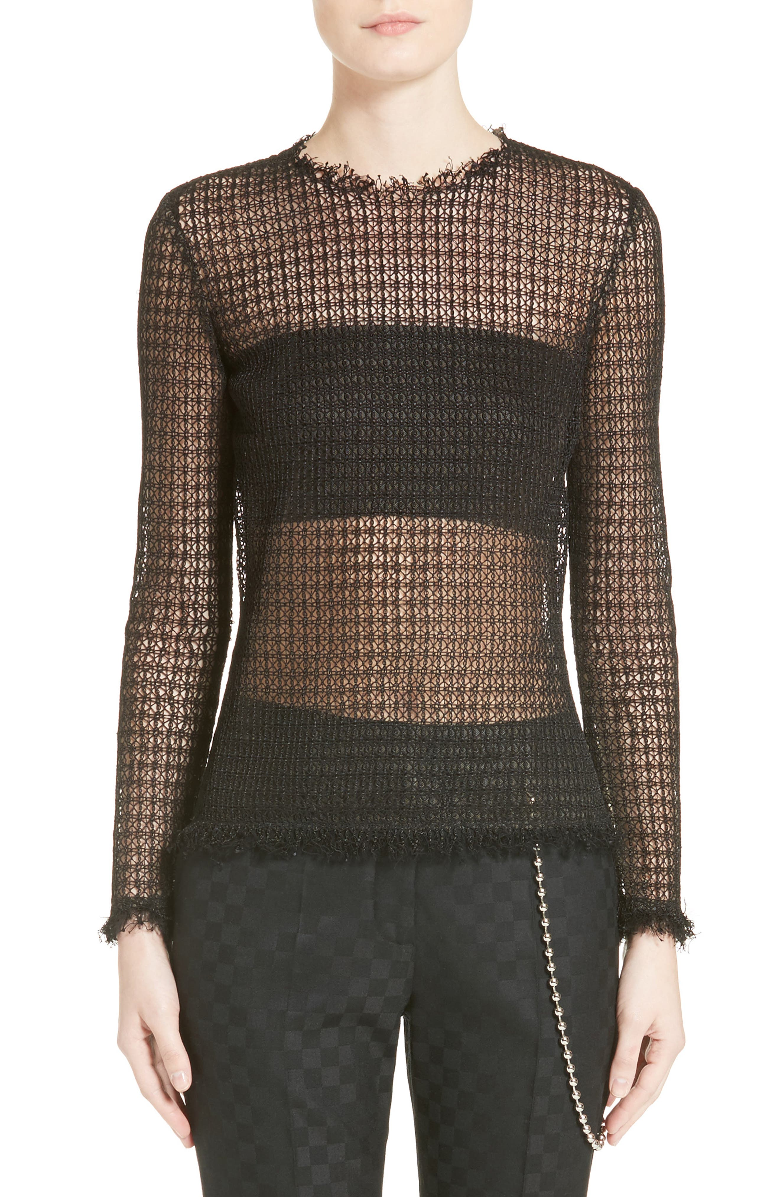 Alexander Wang Geometric Lace Top