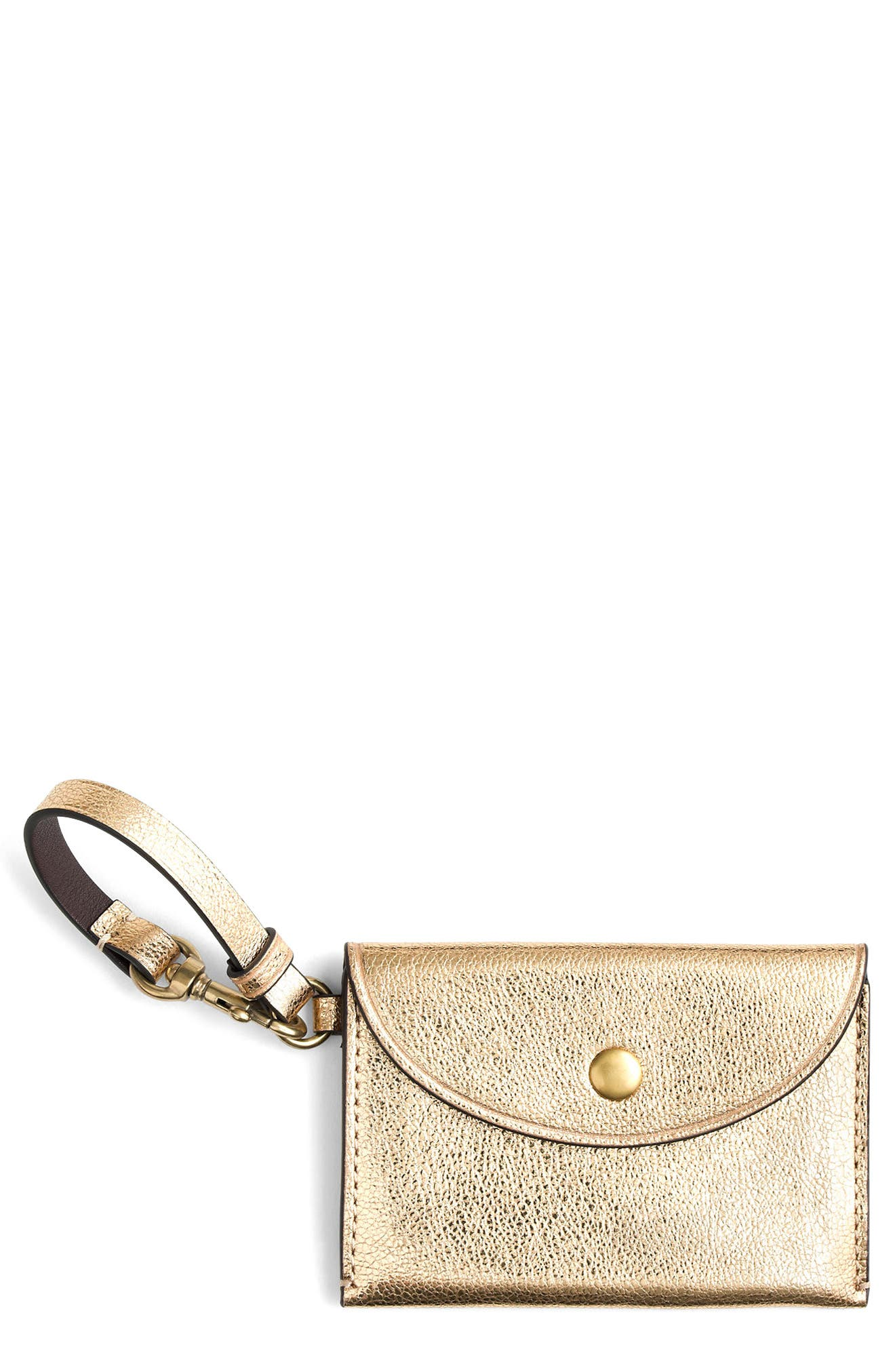 J.Crew Metallic Leather Coin Purse