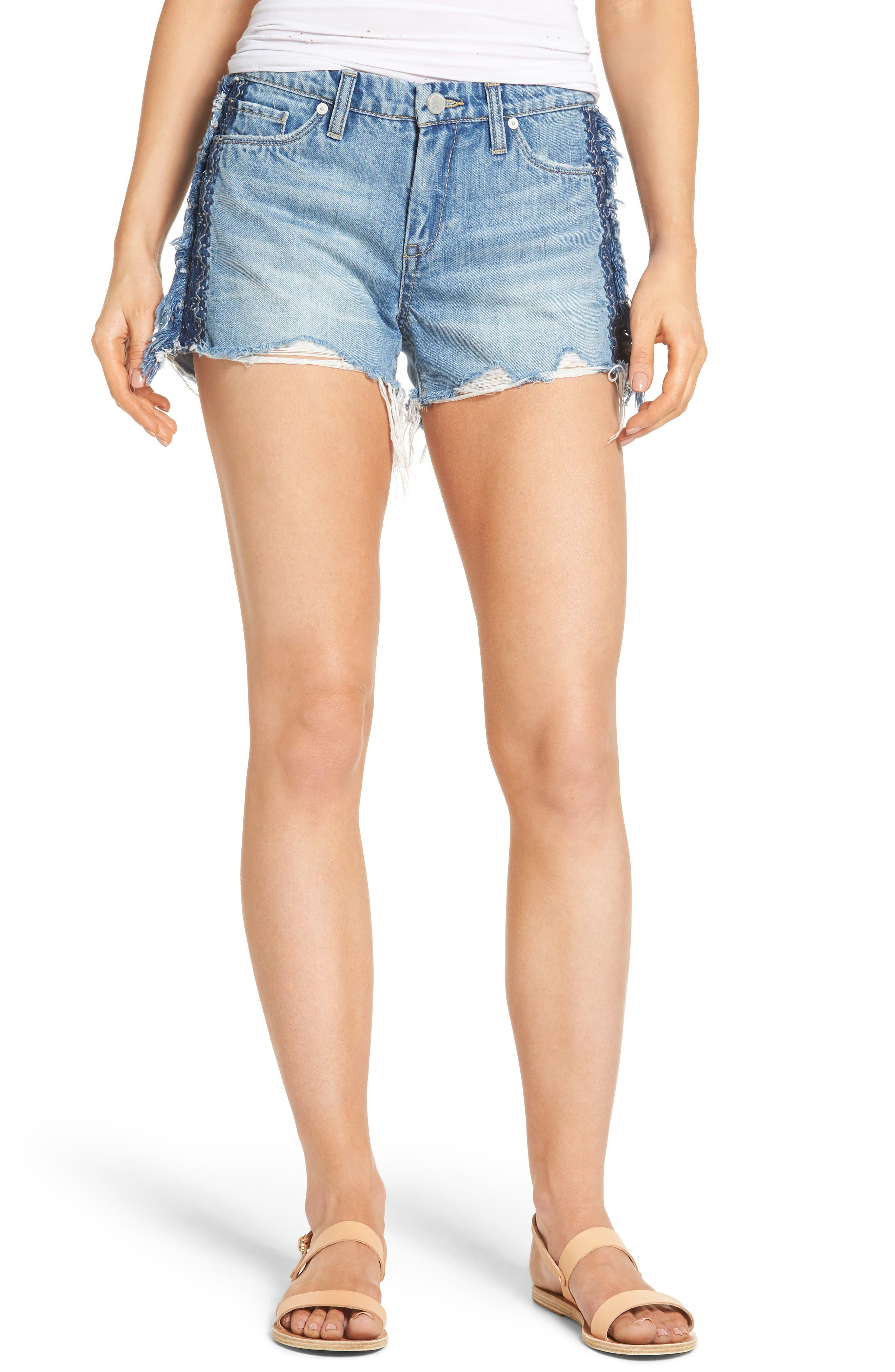 BLANKNYC Fringe Denim Shorts (Freebie)