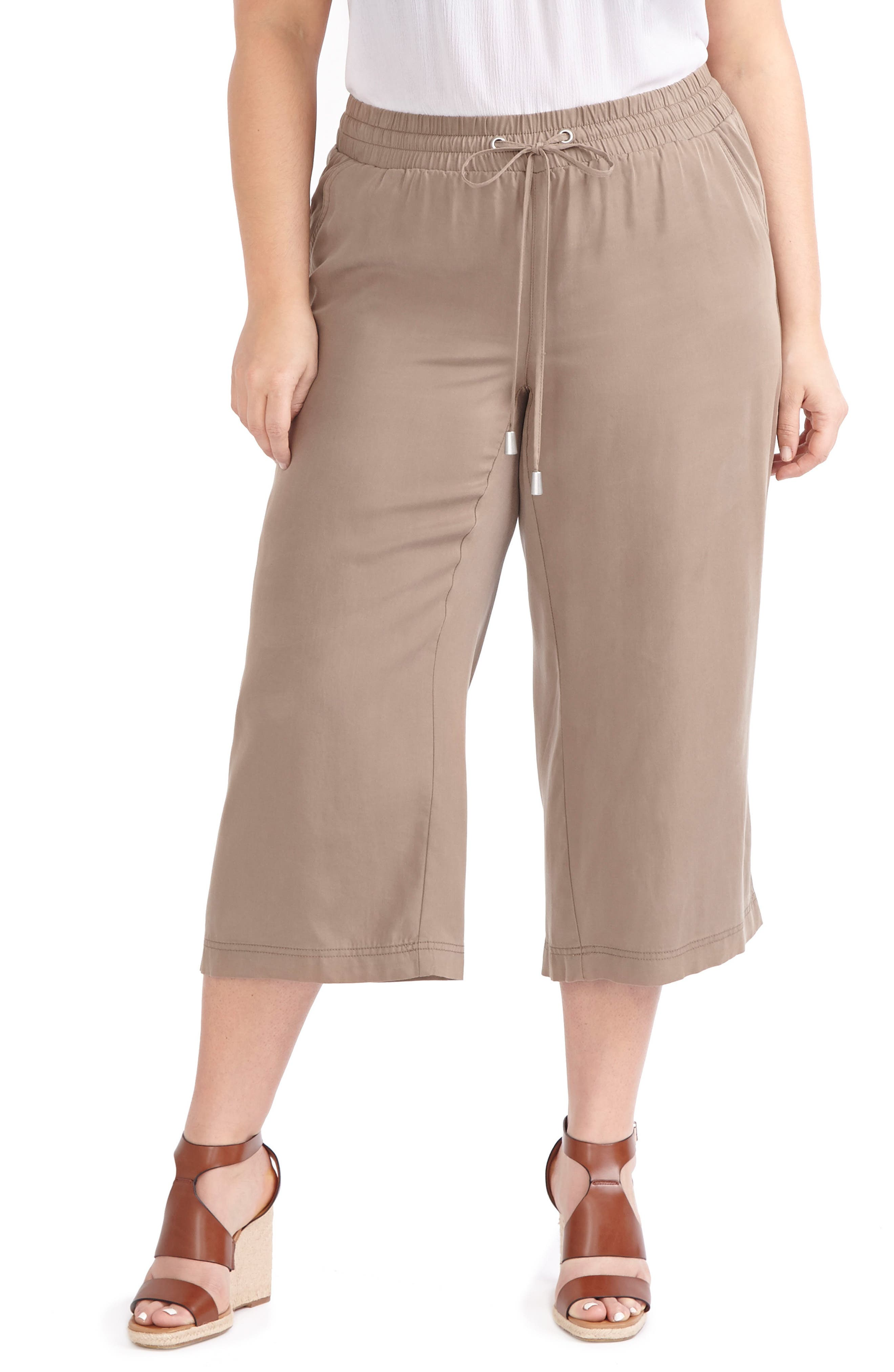 ADDITION ELLE LOVE AND LEGEND Wide Leg Capri Pants (Plus Size)