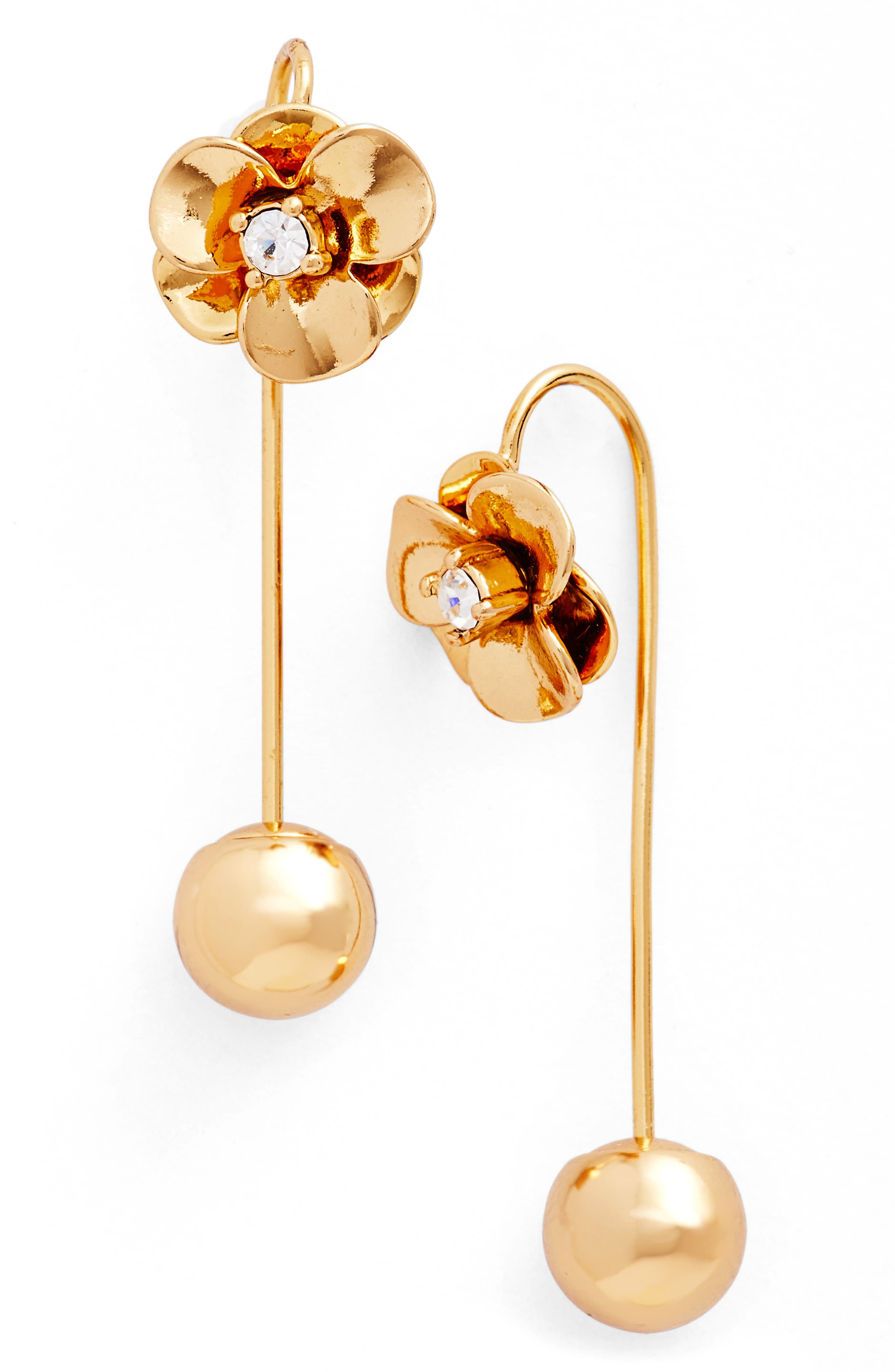 kate spade flower hanger drop earrings