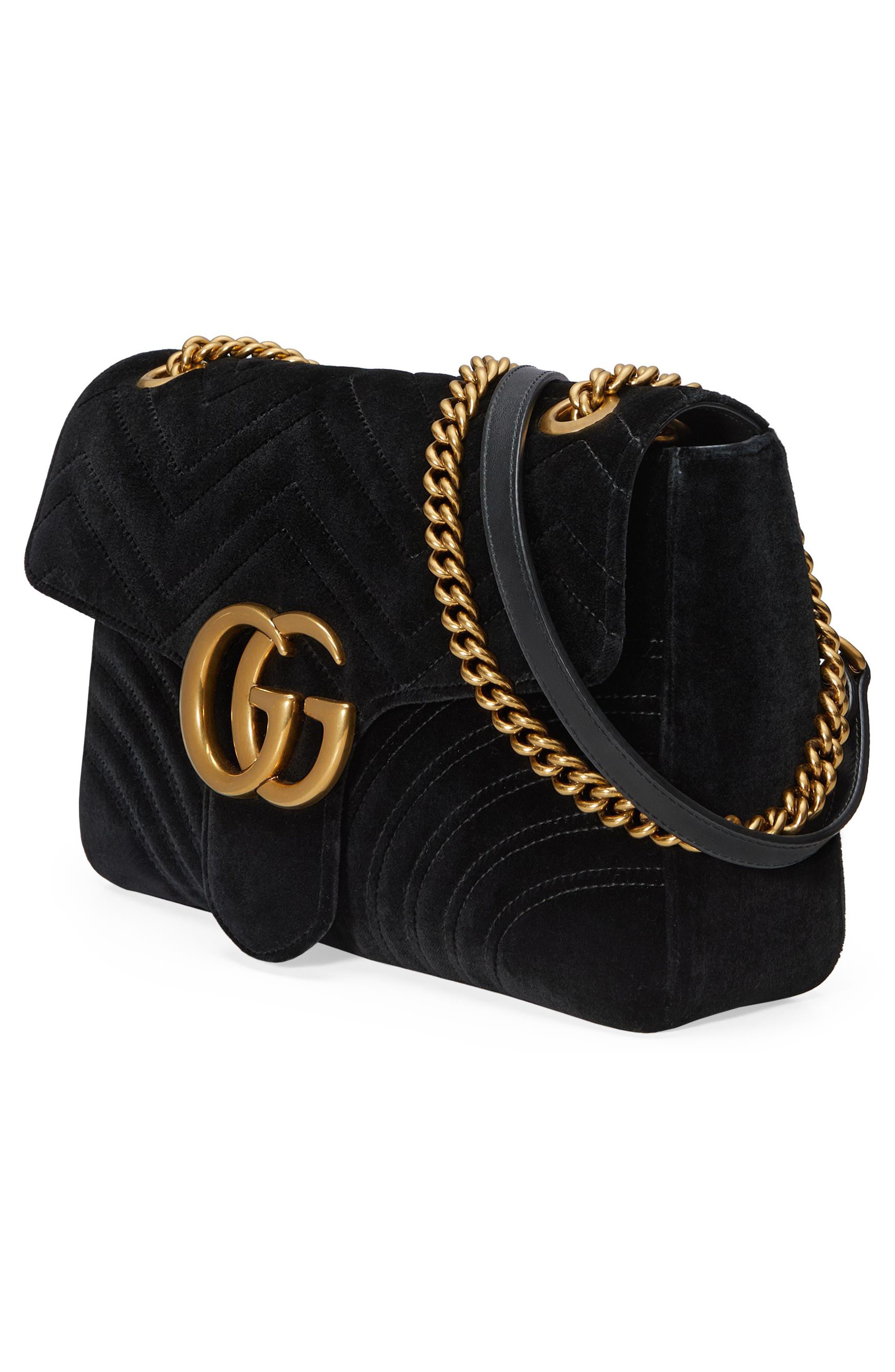 Alternate Image 4  - Gucci Medium GG Marmont 2.0 Matelassé Velvet Shoulder Bag