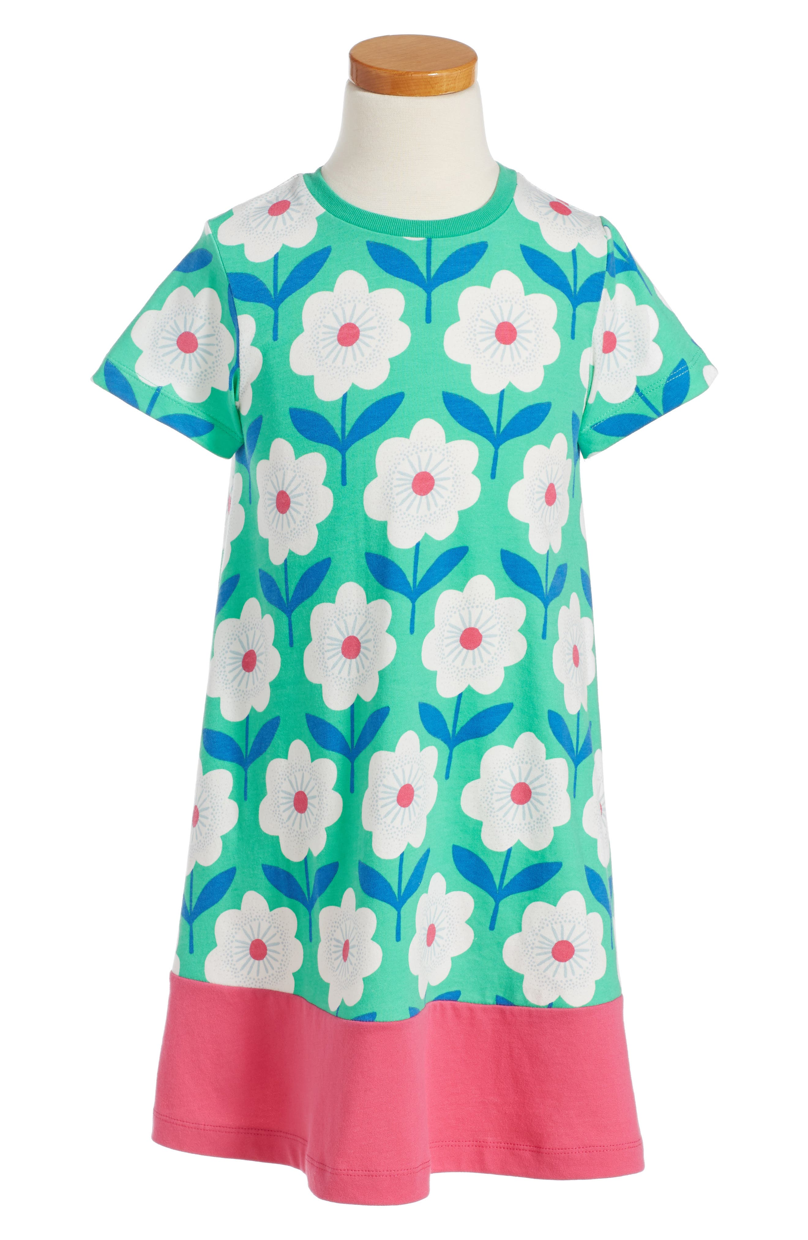 Mini Boden Floral Dress (Toddler Girls, Little Girls & Big Girls)