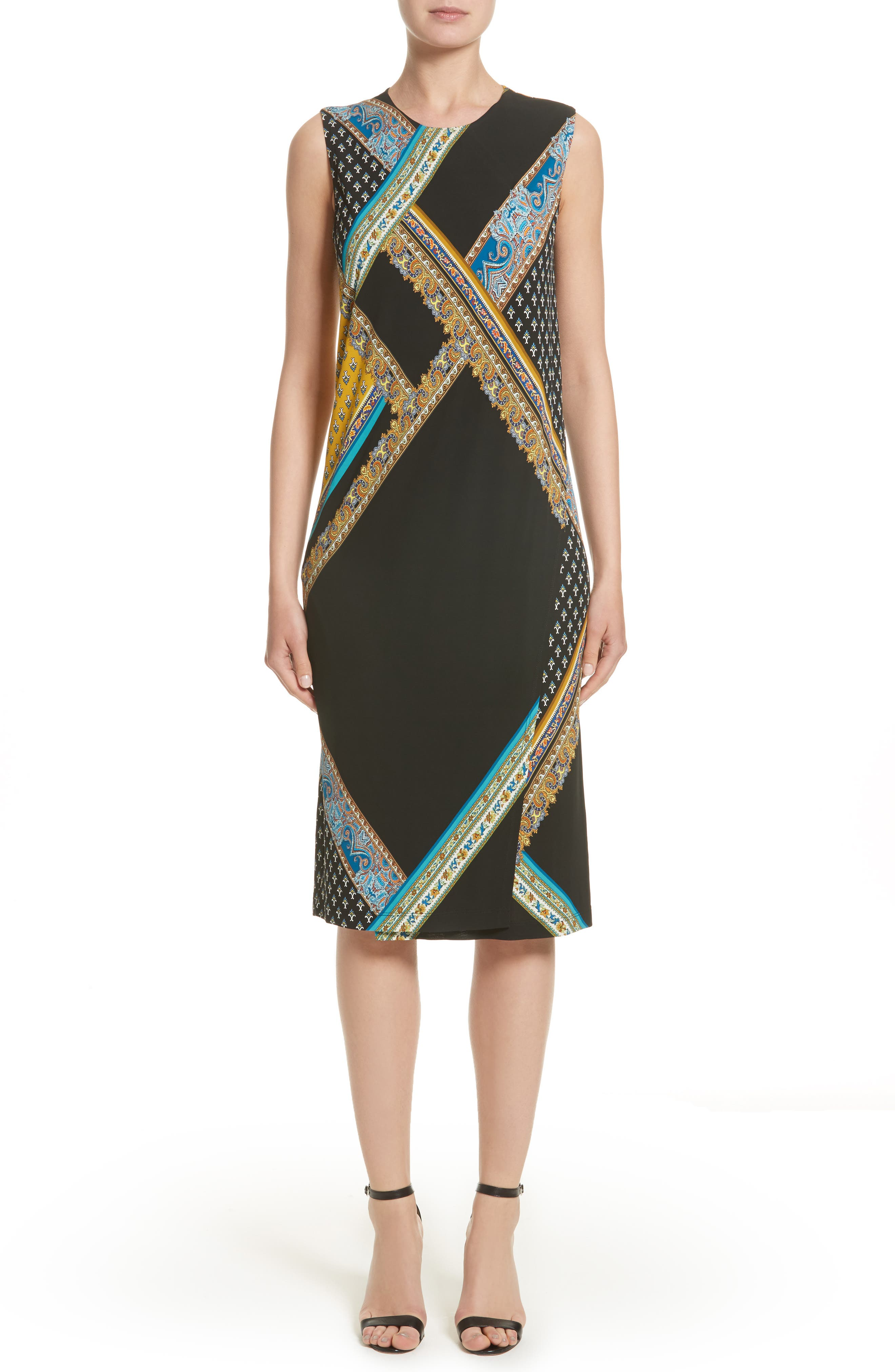 Etro Patchwork Print Jersy Dress