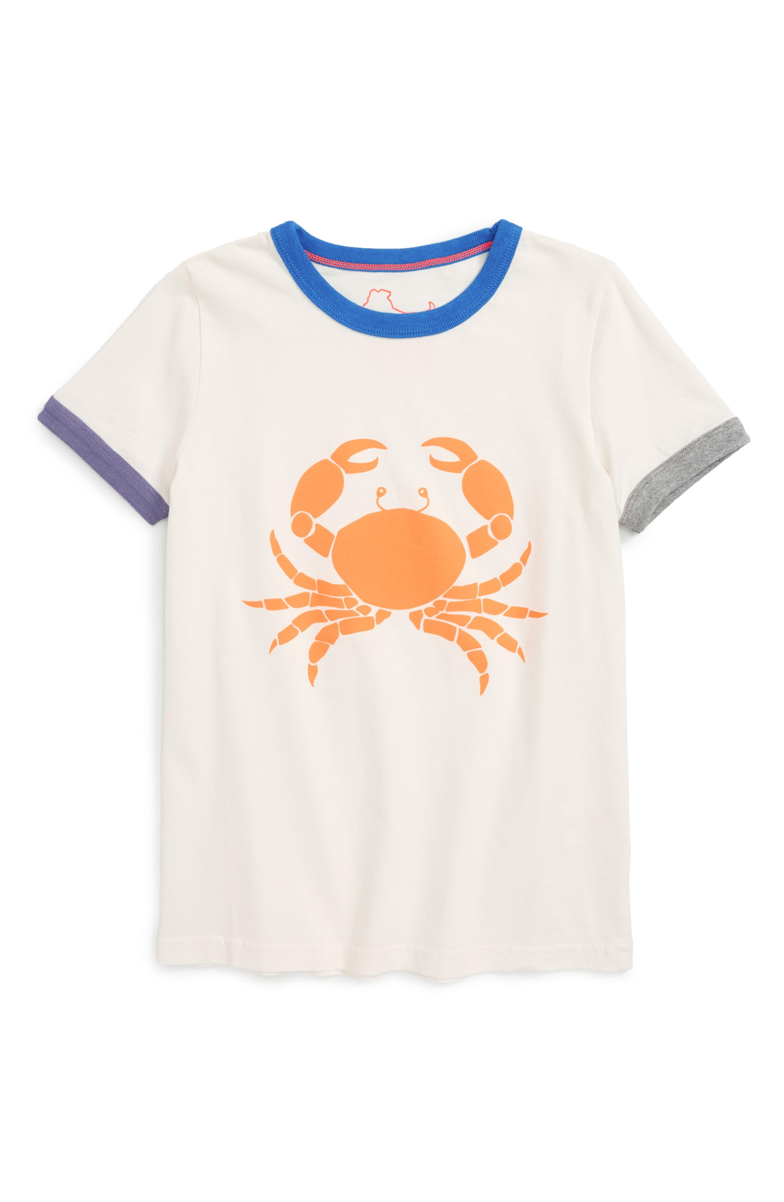 Mini Boden Ringer Logo T-Shirt (Toddler Boys, Little Boys & Big Boys)