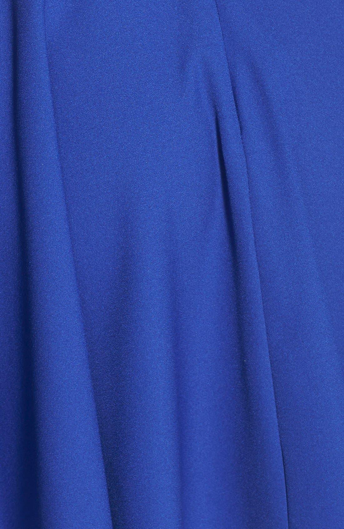 Alternate Image 3  - Cream and Sugar Lace Trim Cutout Skater Dress (Juniors)