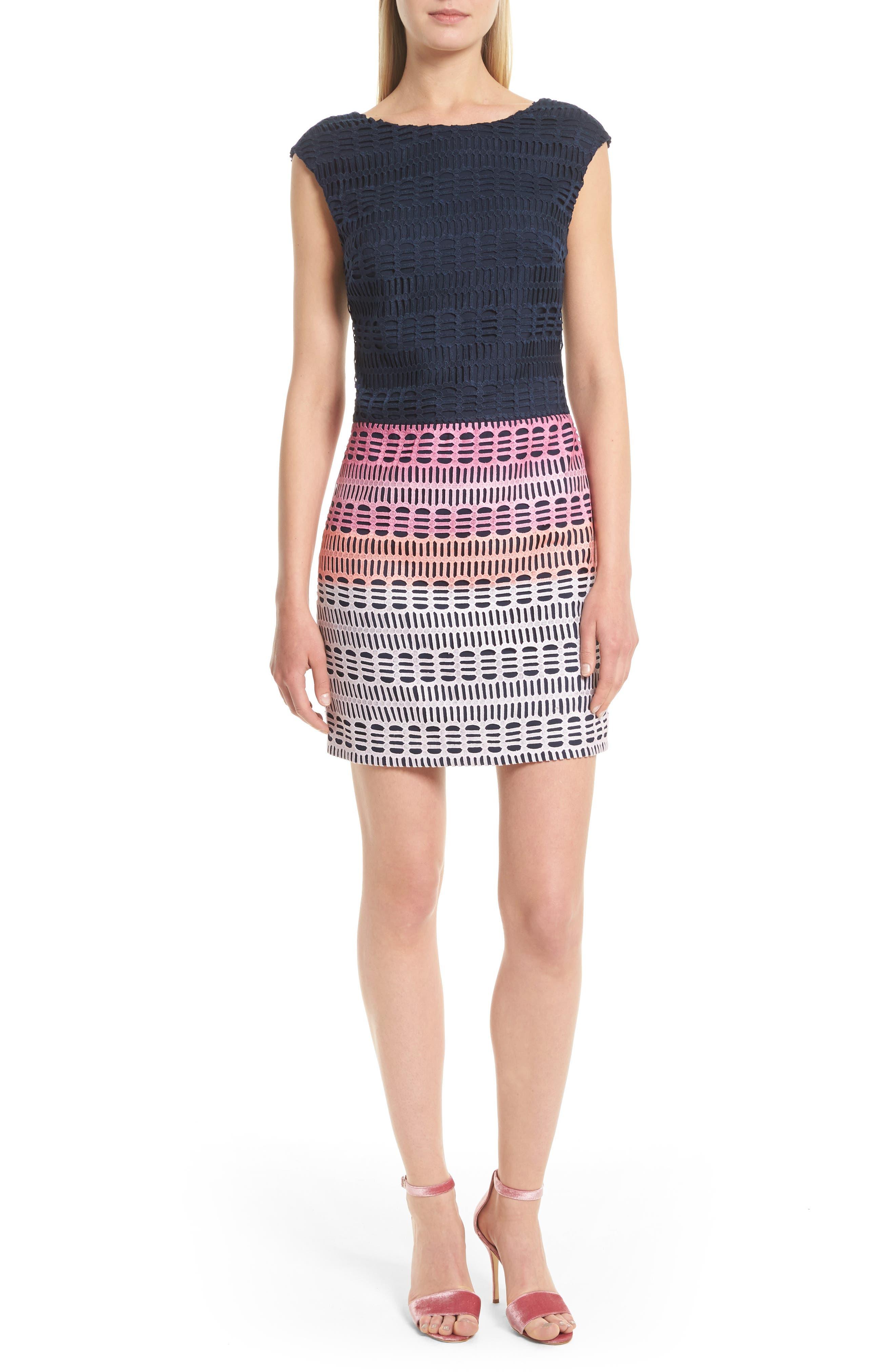 Ted Baker London Dahil Marina Mosaic Lace Dress