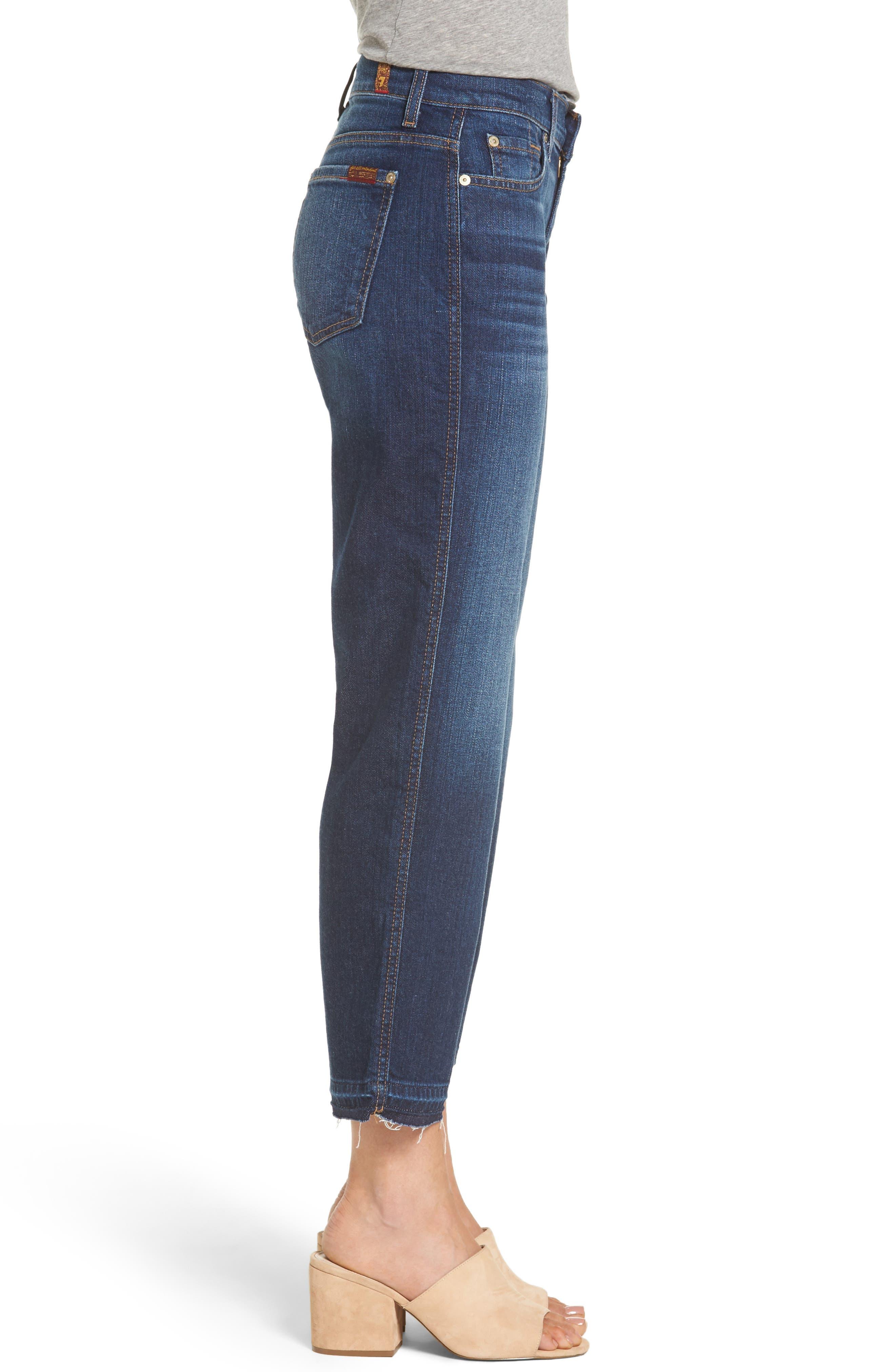 Alternate Image 3  - 7 For All Mankind® Kiki High Waist Crop Wide Leg Jeans (Eden Port)