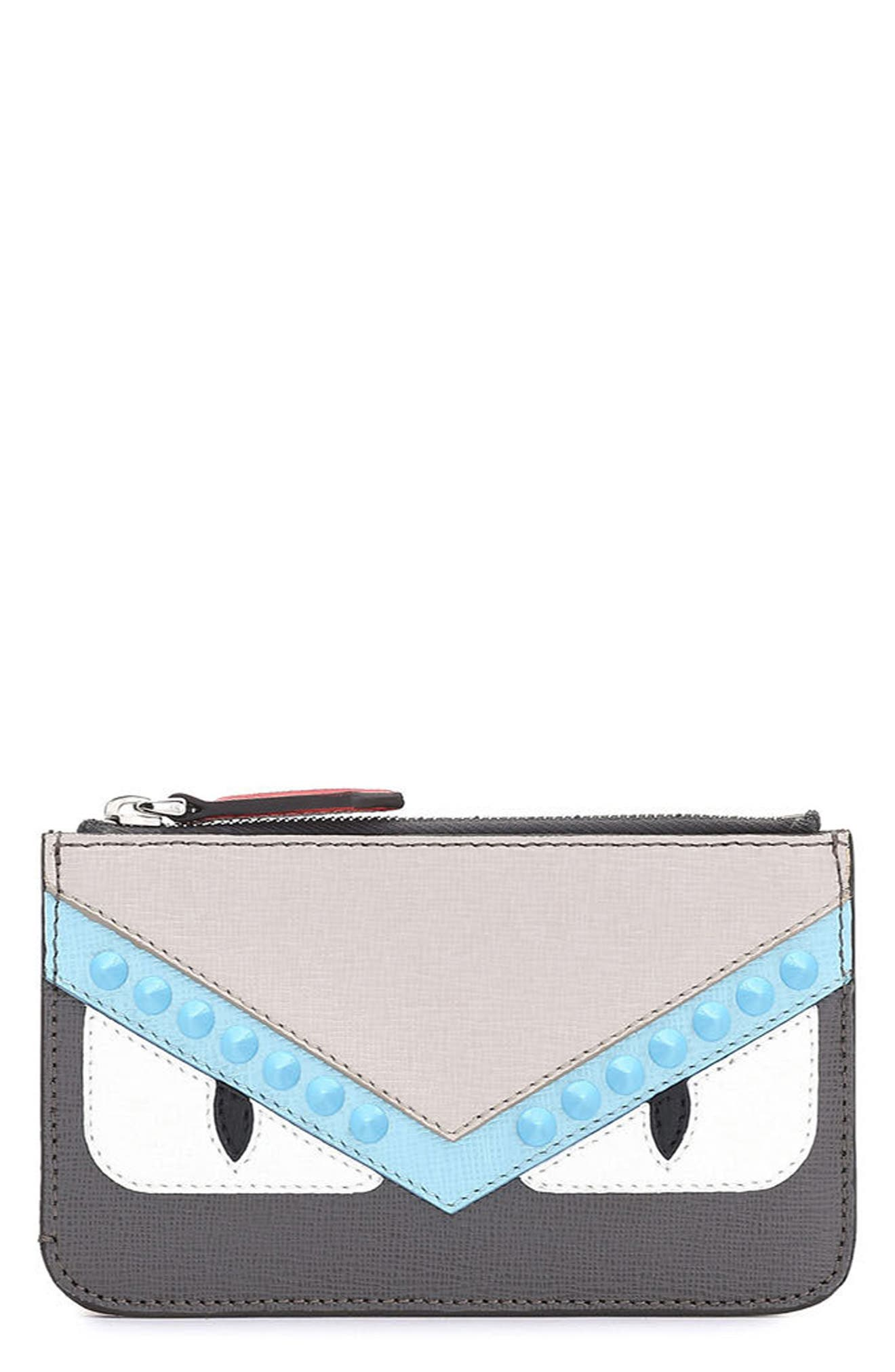 Fendi Monster Vitello Elite Leather Key Case