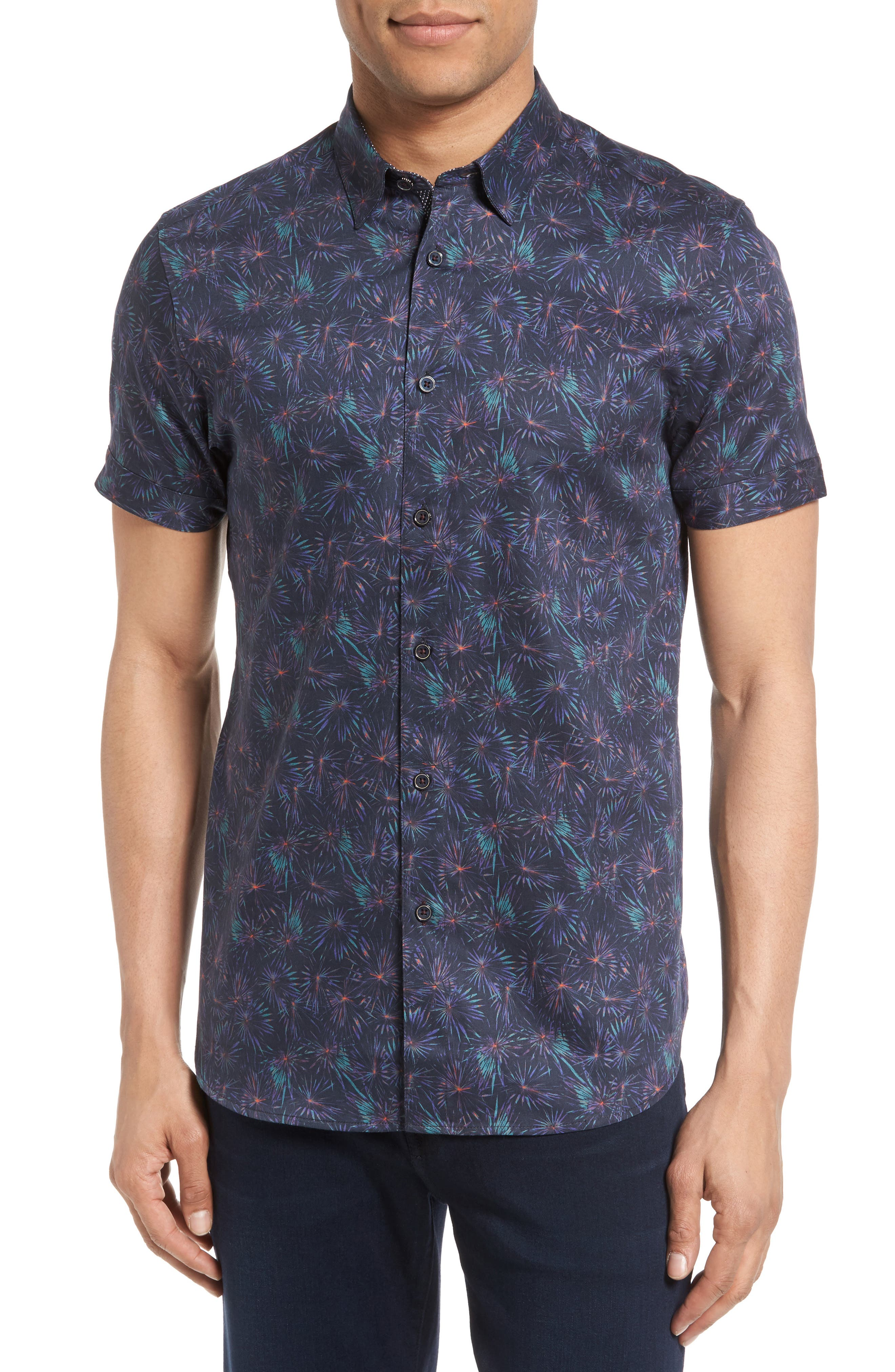 Ted Baker London Saraf Modern Slim Fit Print Sport Shirt