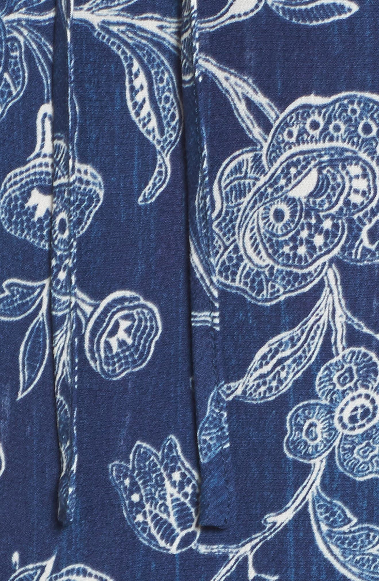 Alternate Image 5  - Caslon® Ruffle Split Neck Dress (Regular & Petite)