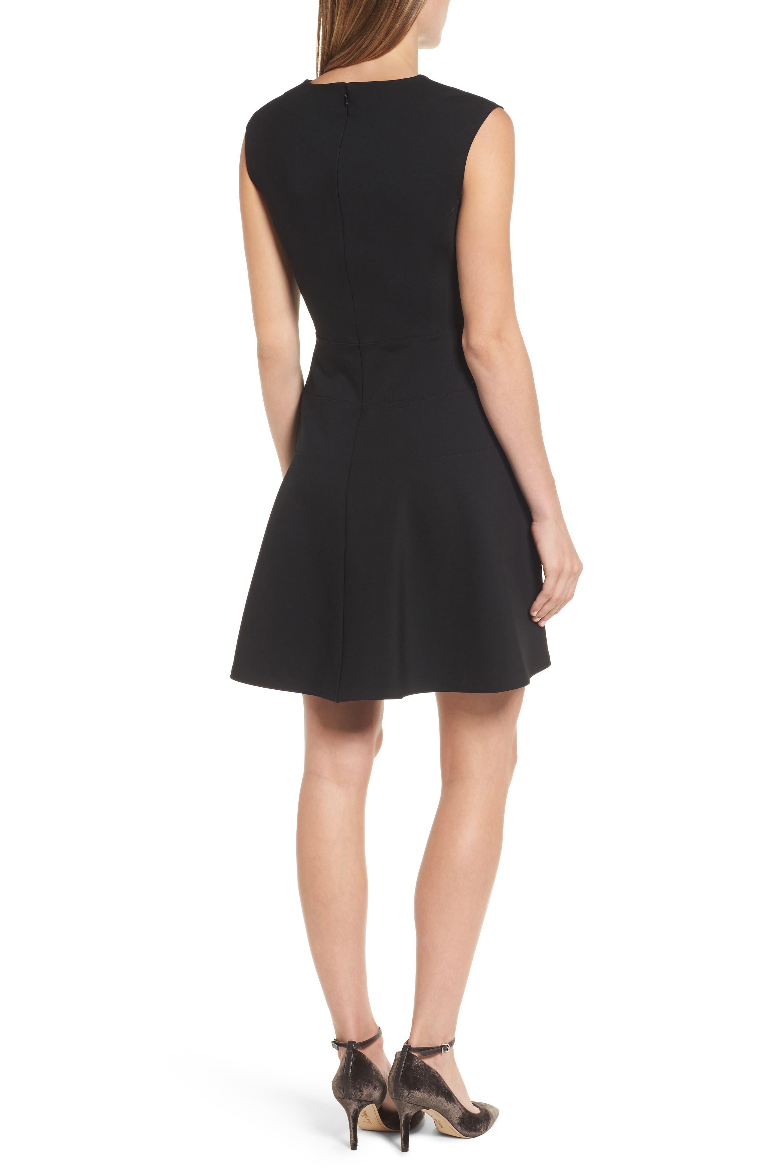 Alternate Image 2  - Halogen® Ponte Fit & Flare Dress (Regular & Petite)