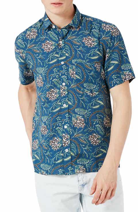Topman Floral Print Shirt
