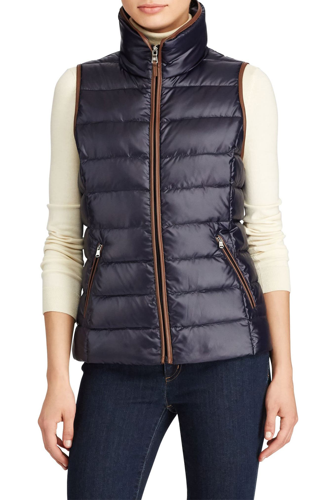 Alternate Image 1 Selected - Lauren Ralph Lauren Quilted Down Vest
