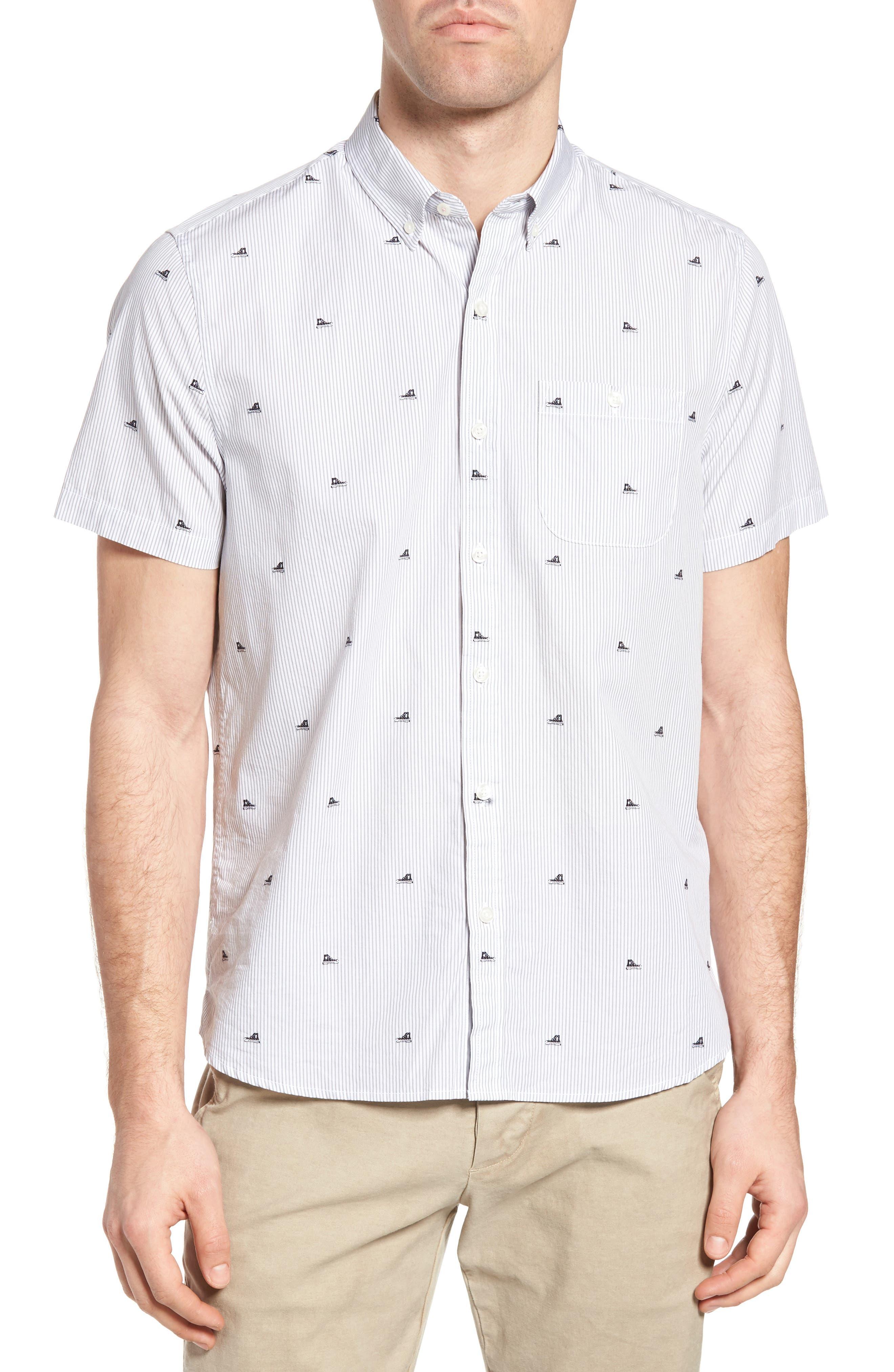 Michael Bastian Stripe Print Sport Shirt