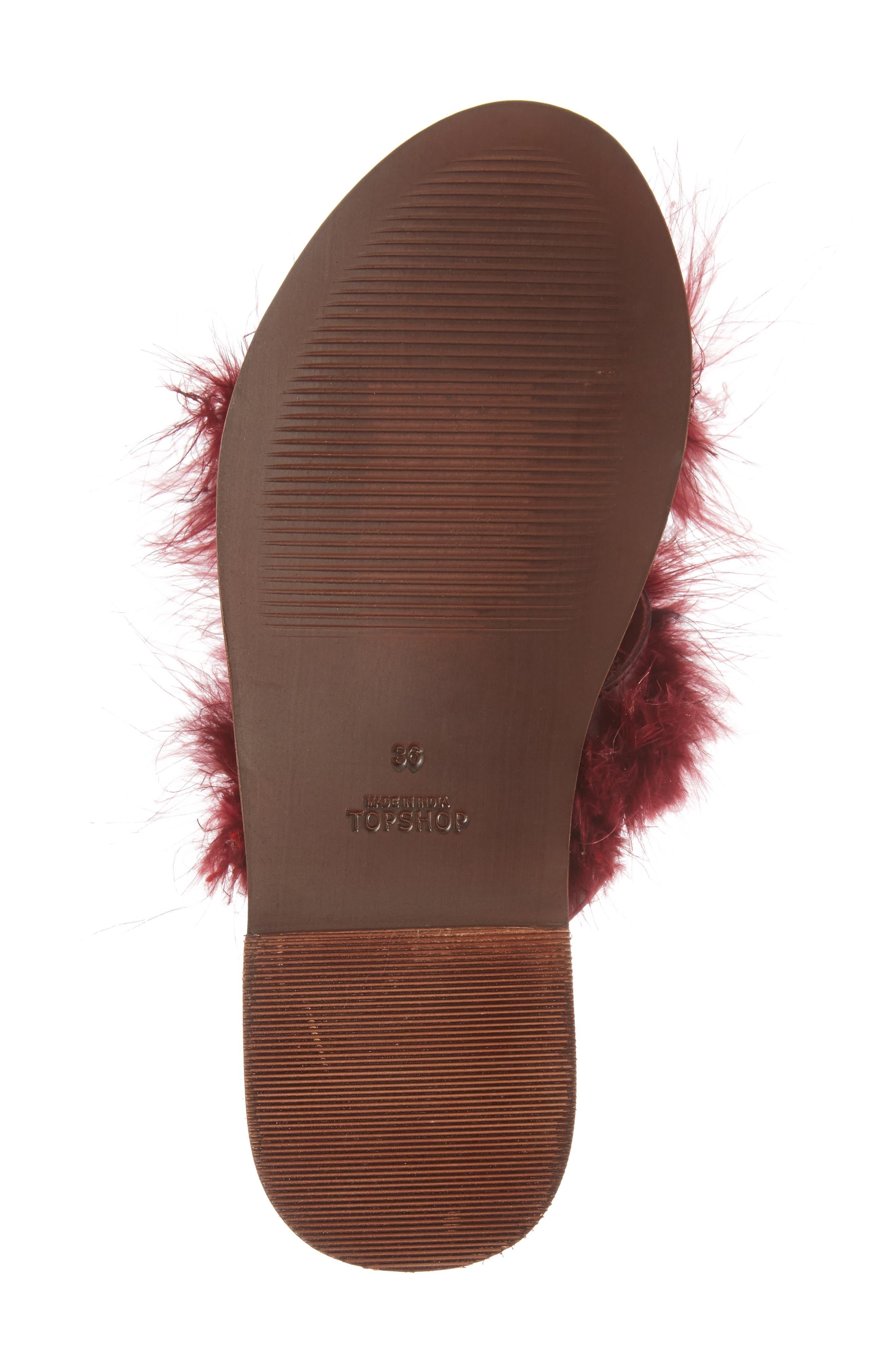 Alternate Image 6  - Topshop Fenella Feathered Sandal (Women)