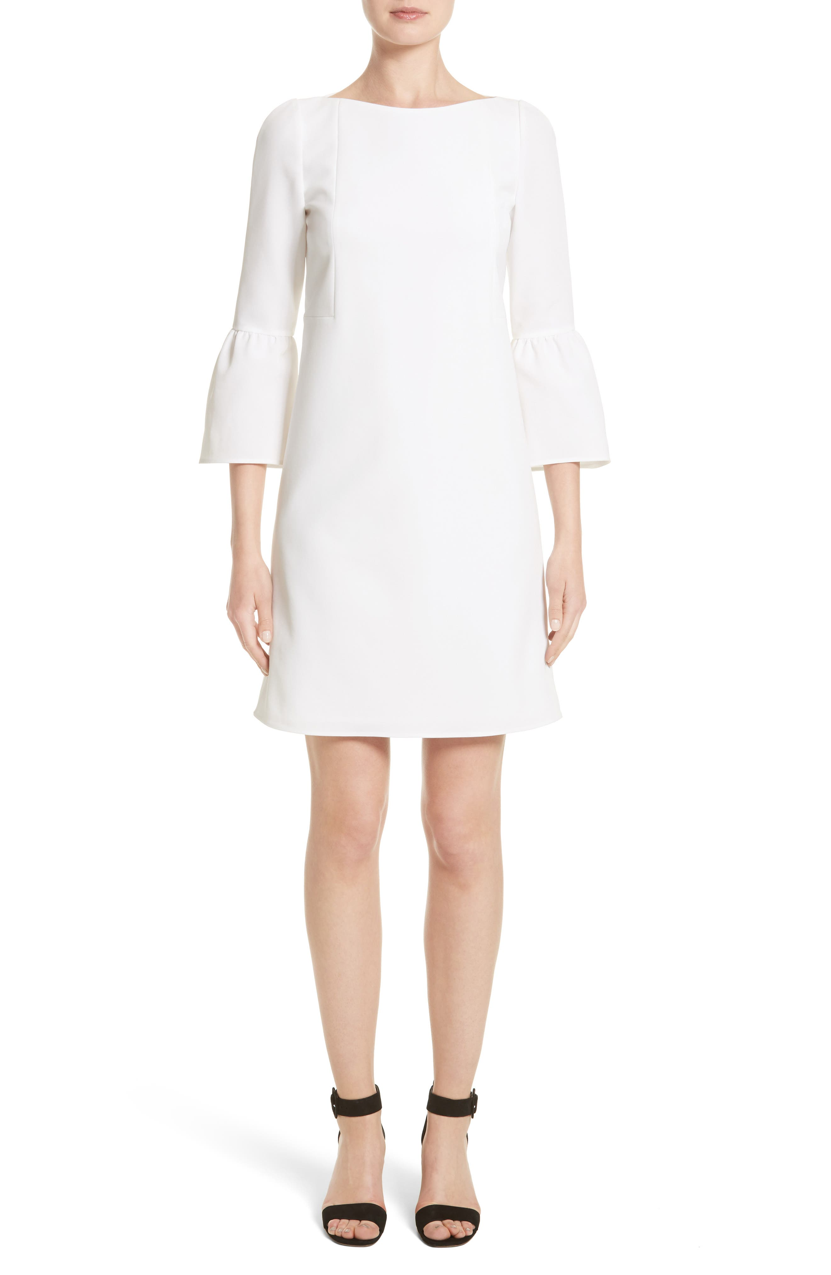 Alternate Image 1 Selected - Lafayette 148 New York Marisa Flounce Cuff Shift Dress (Nordstrom Exclusive)