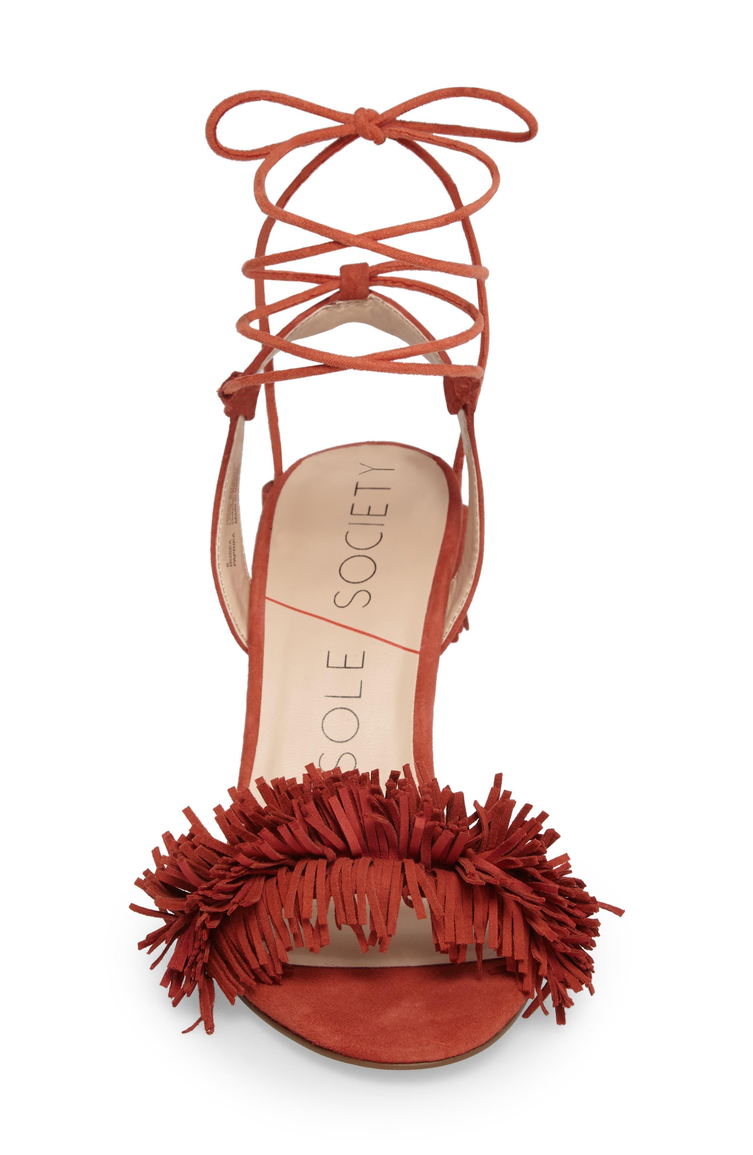 Alternate Image 4  - Sole Society Rosea Ankle Wrap Sandal (Women)