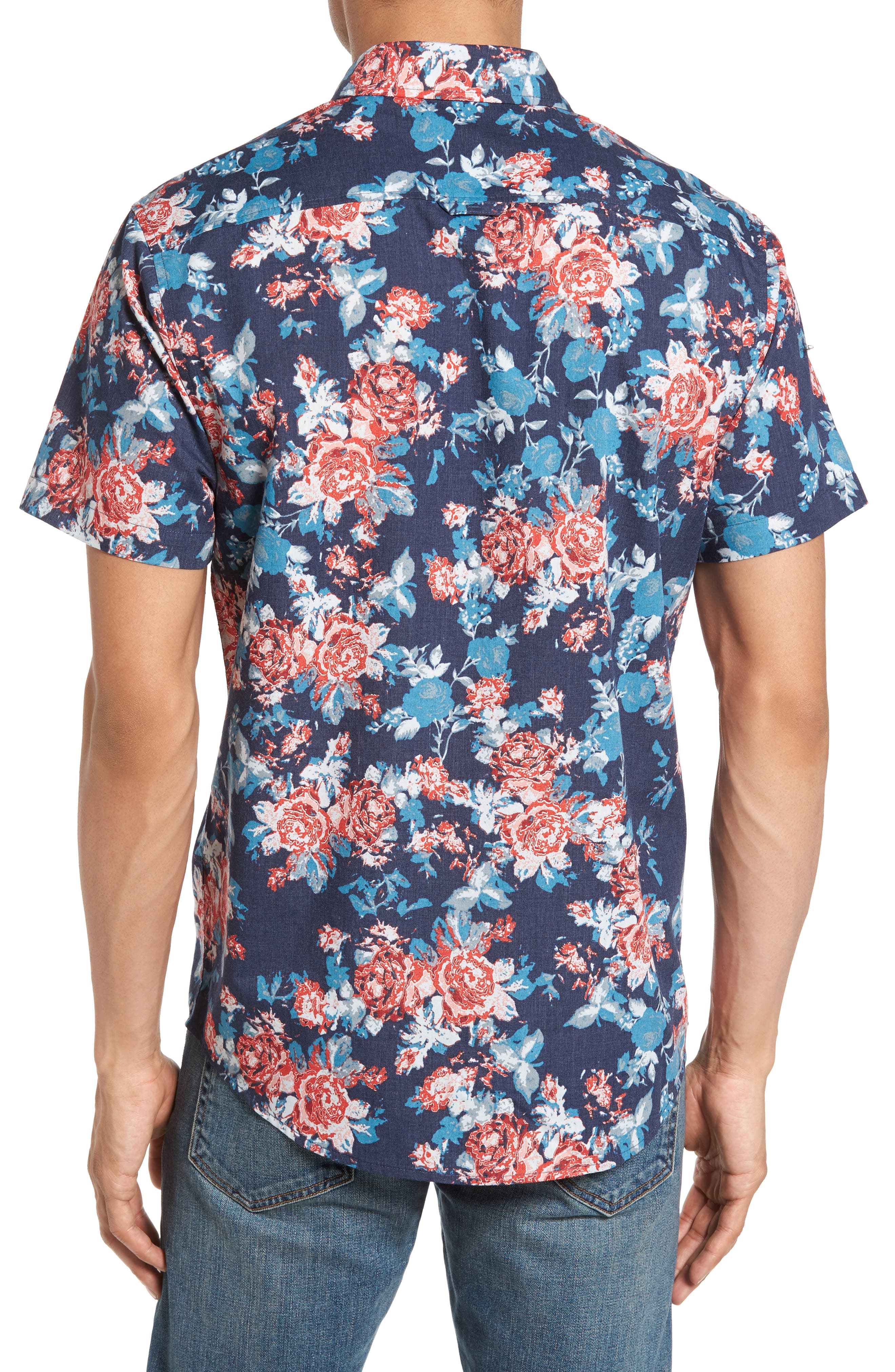 Alternate Image 2  - 1901 Wallpaper Floral Print Shirt