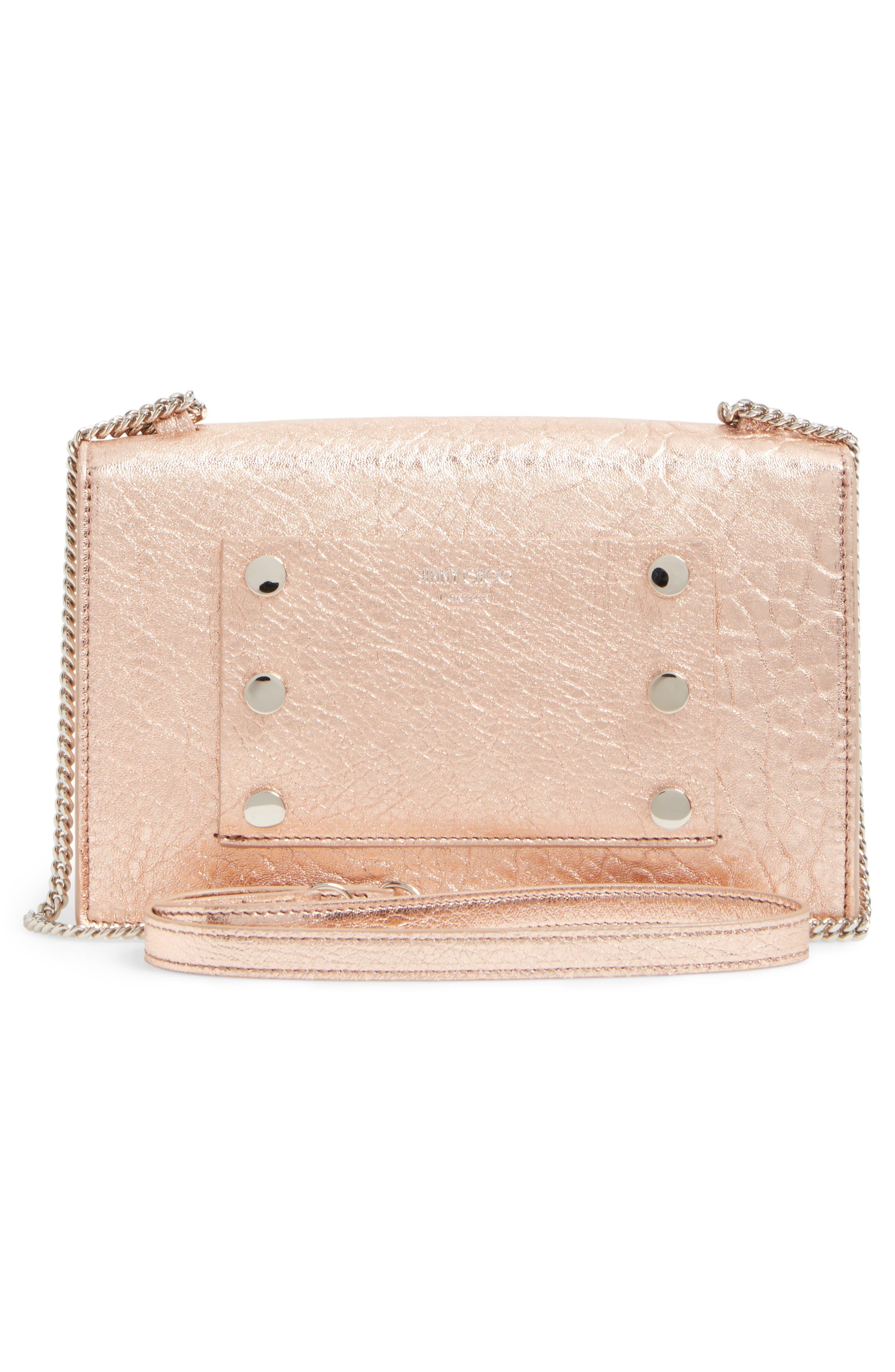 Alternate Image 3  - Jimmy Choo Leila Grainy Lambskin Leather Crossbody Bag