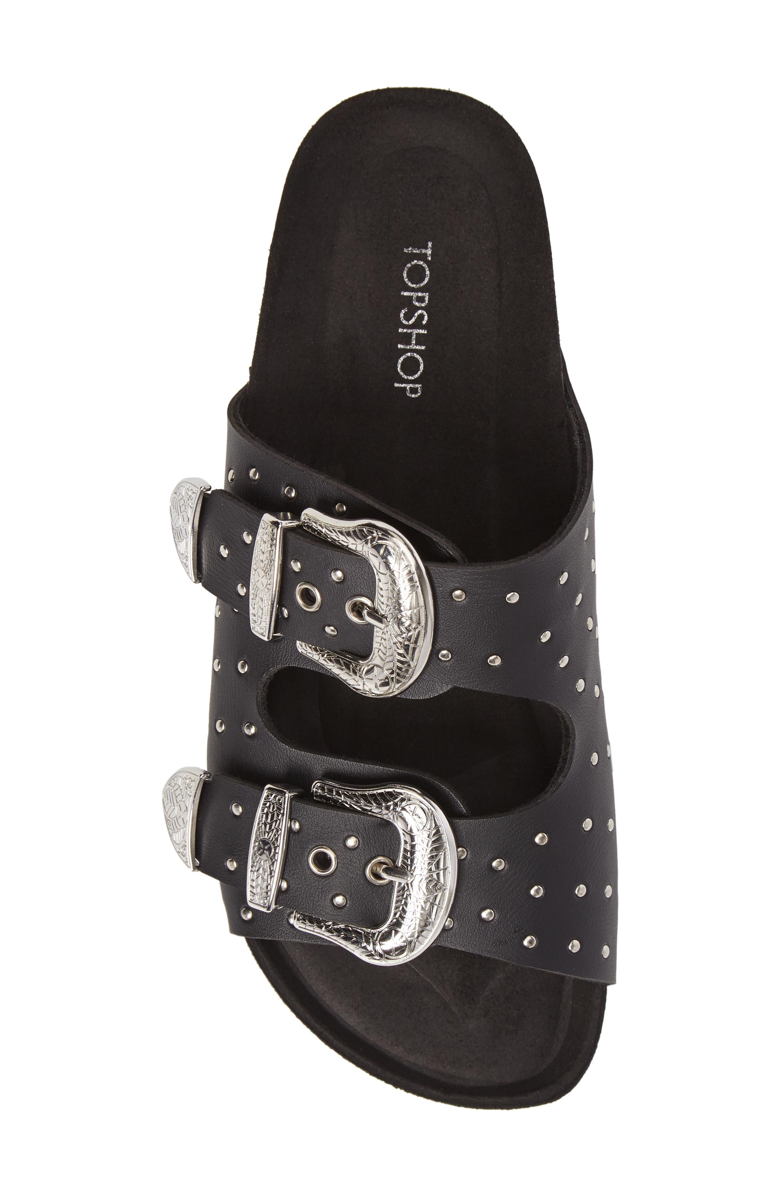 Alternate Image 5  - Topshop Falcon Studded Concho Buckle Sandal (Women)