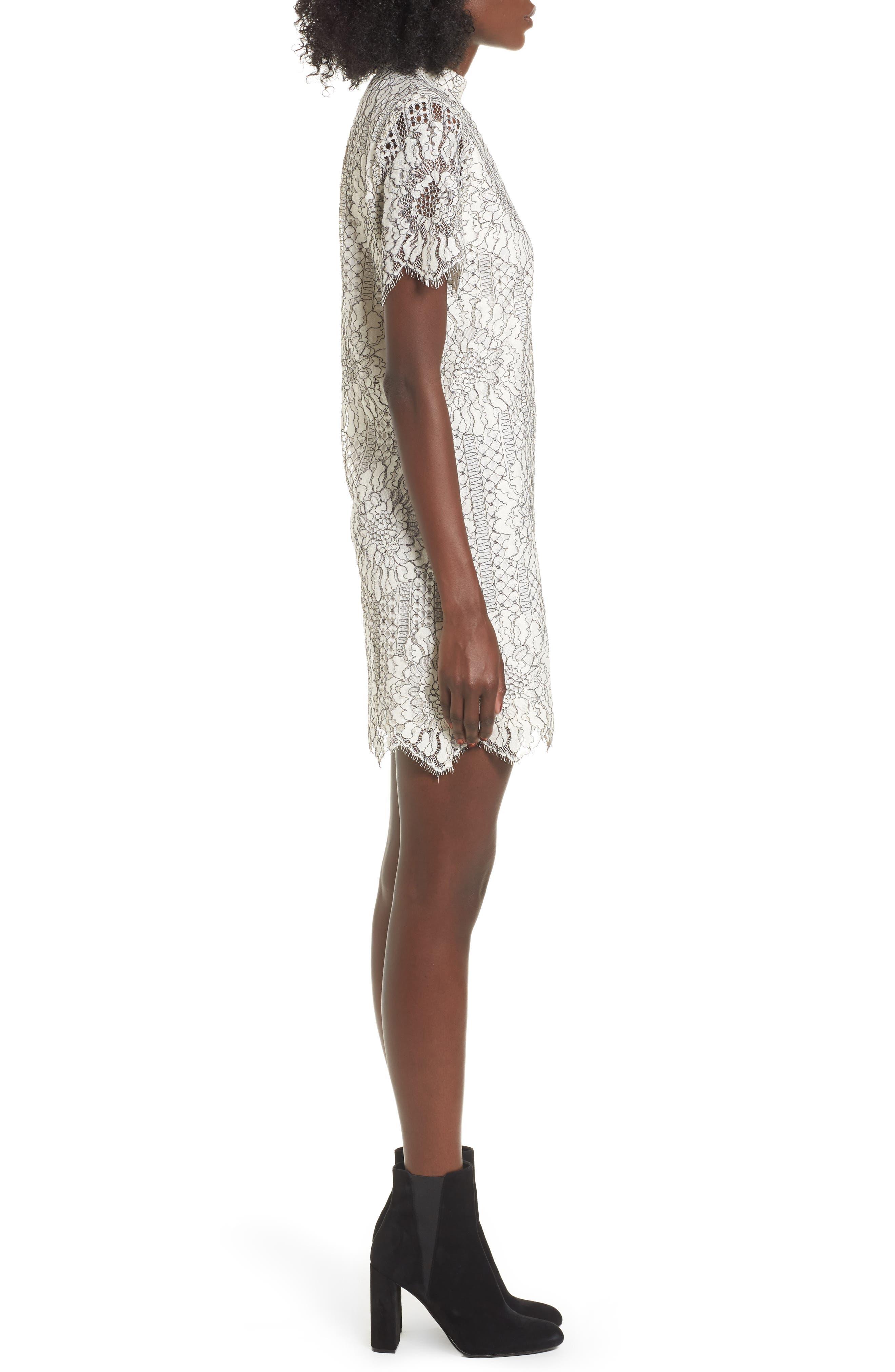 Alternate Image 3  - Socialite Choker Lace Shift Dress