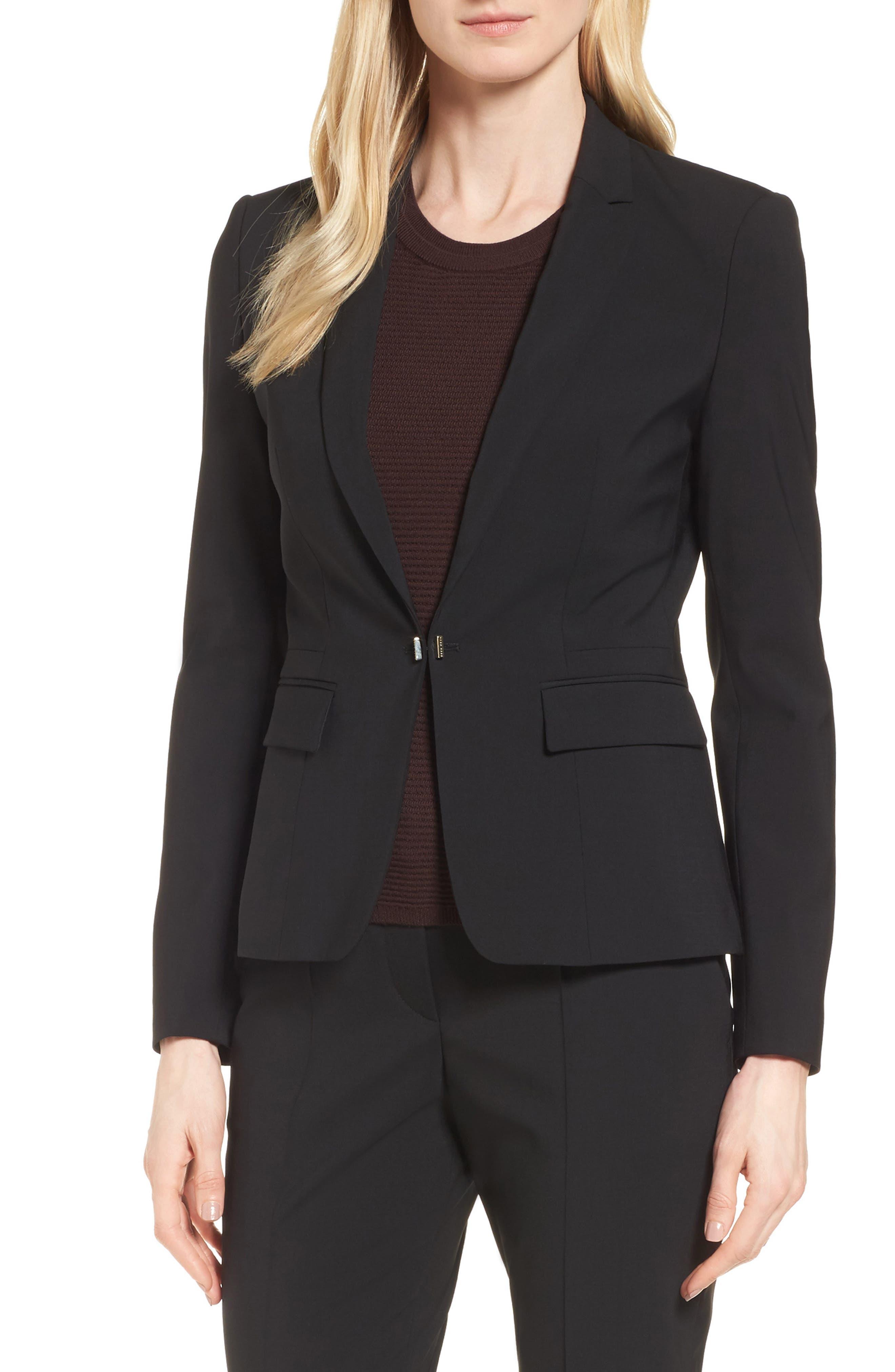 BOSS Jaflink Stretch Wool Suit Jacket