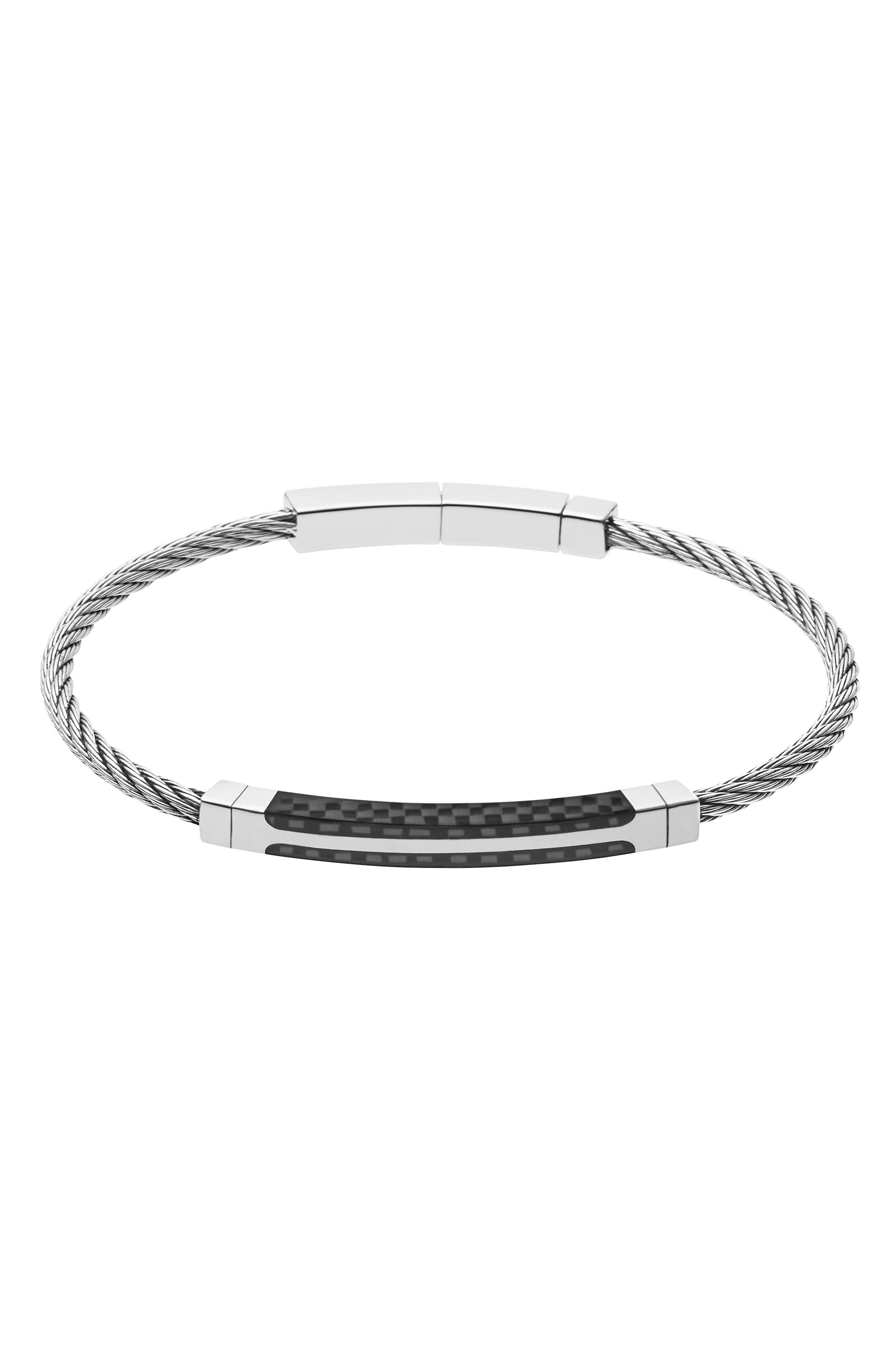 Skagen Olaf Stainless Steel & Carbon Bracelet