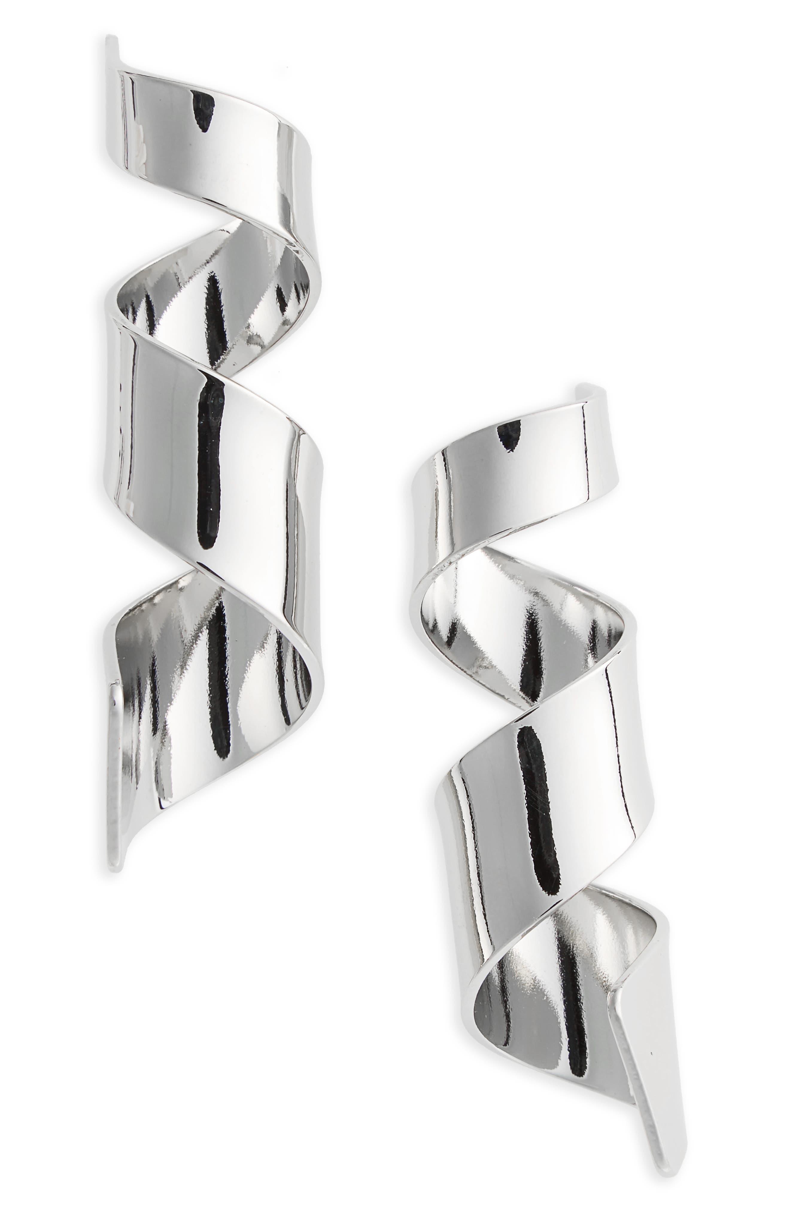 Alternate Image 1 Selected - Topshop Sculpted Swirl Earrings