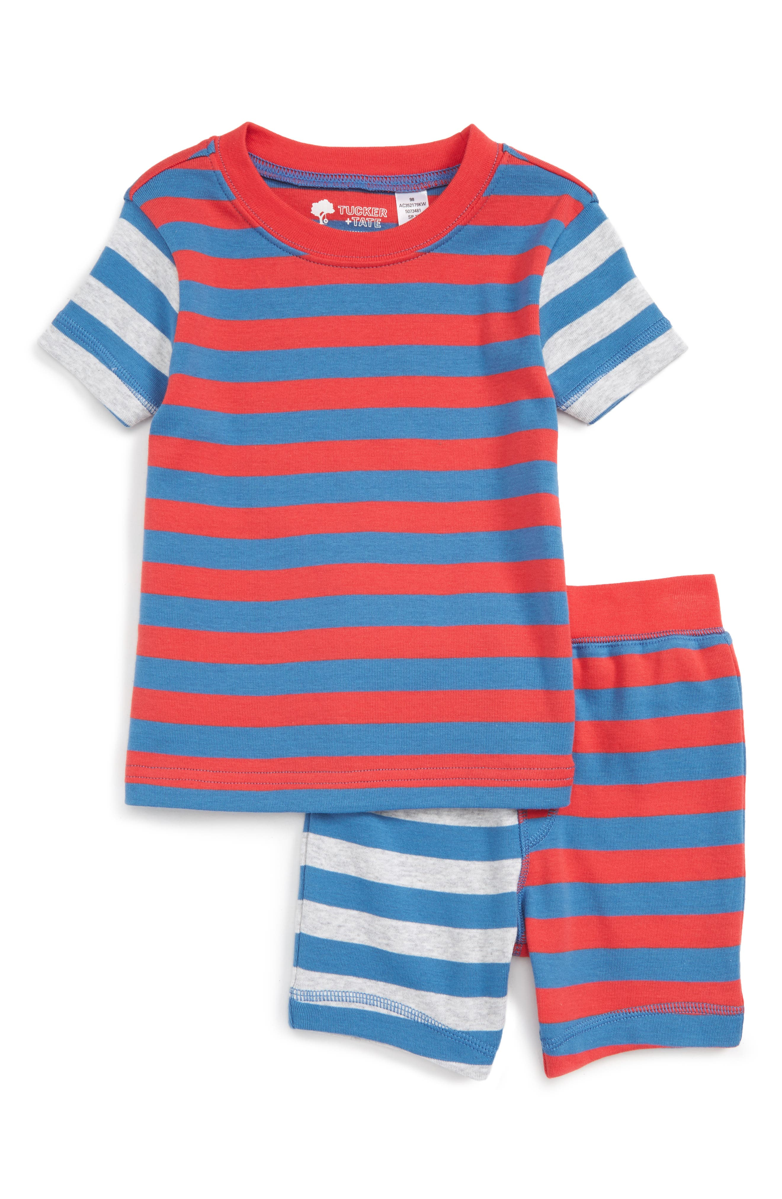 Tucker + Tate Stripe Fitted Two-Piece Pajamas (Toddler ...