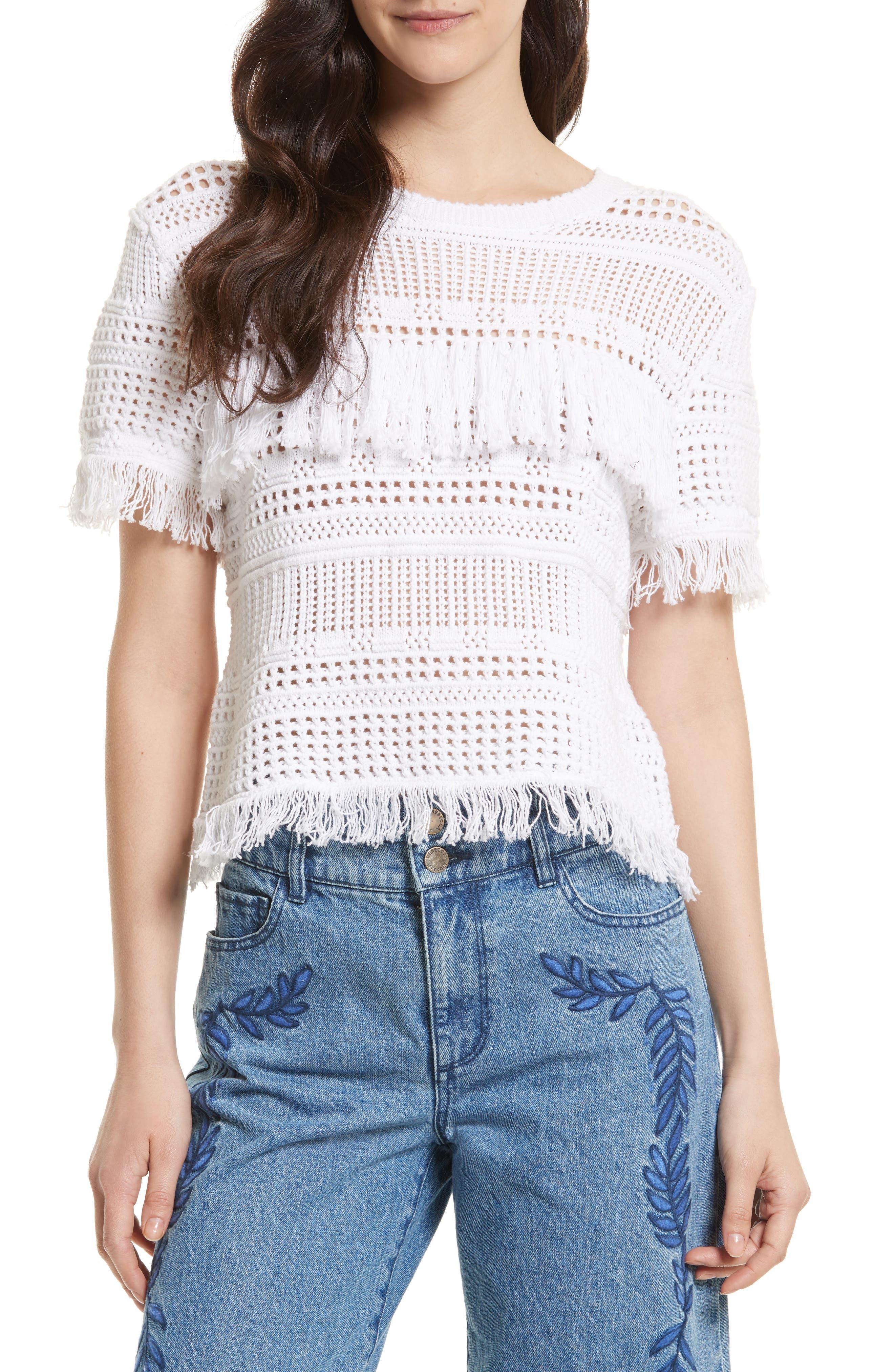 Rebecca Minkoff Miwok Crochet Top