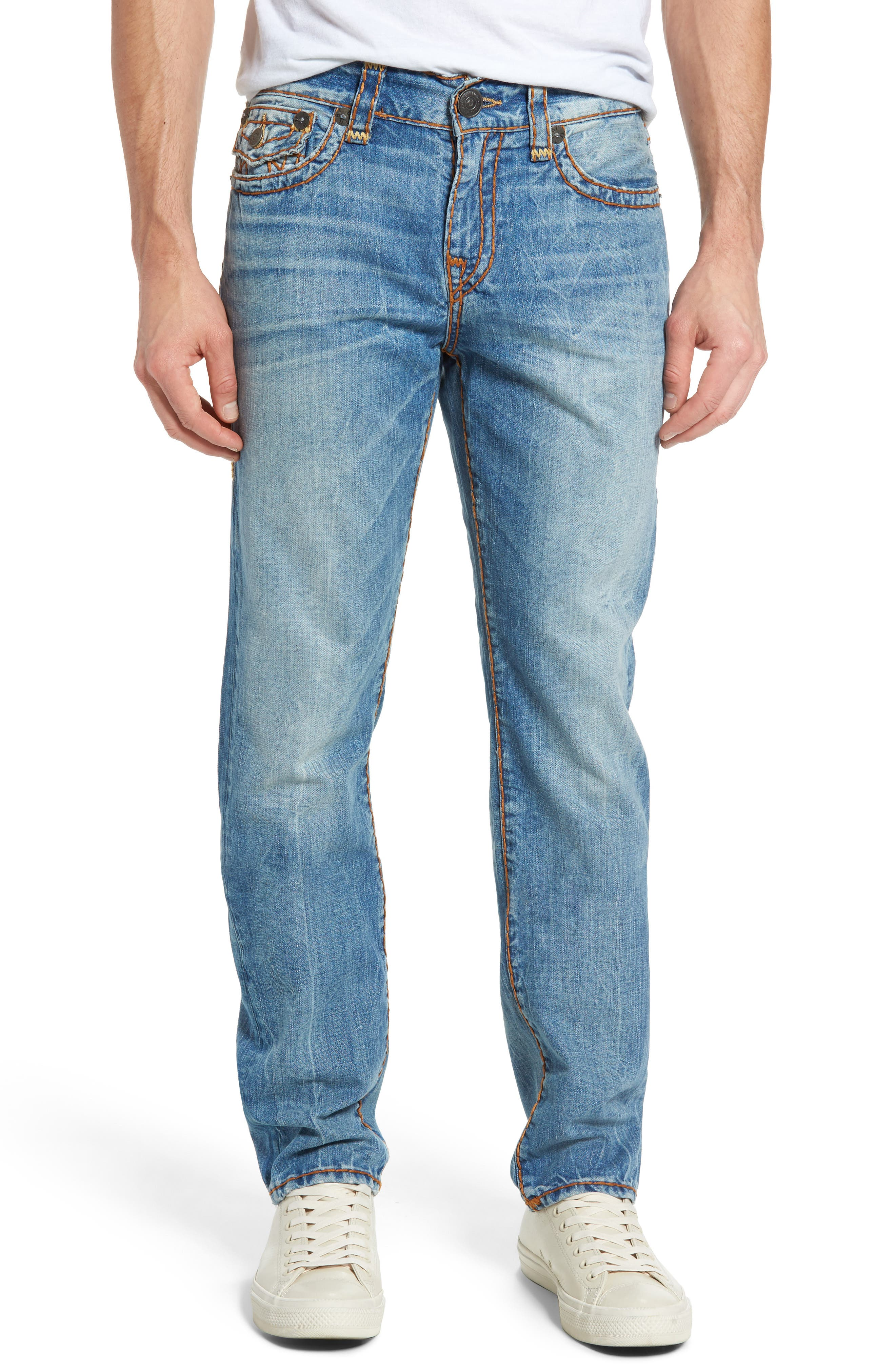 True Religion Brand Jeans Geno Straight Leg Jeans (Riff)
