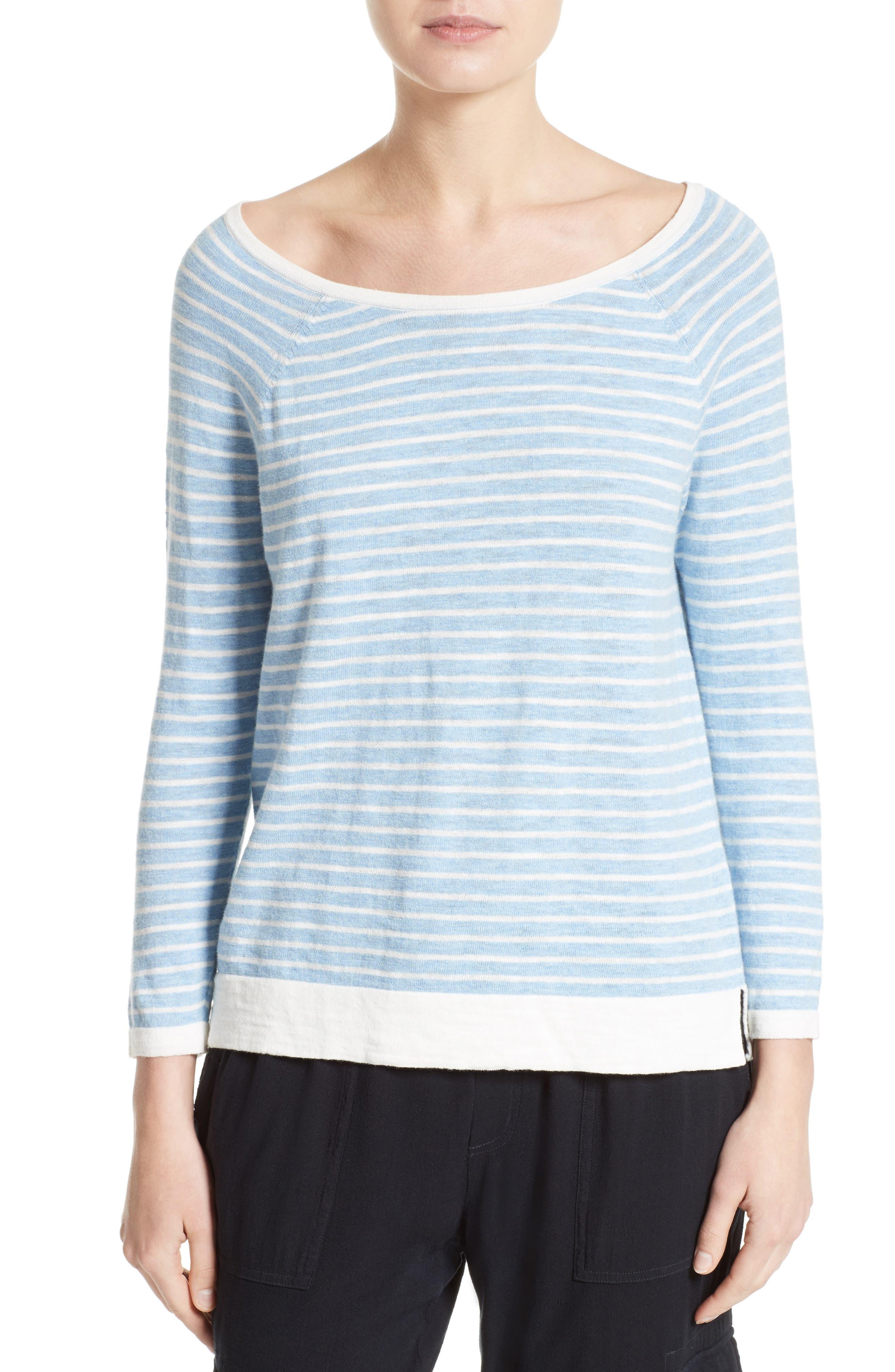 Soft Joie Suzu Stripe Cotton Sweater