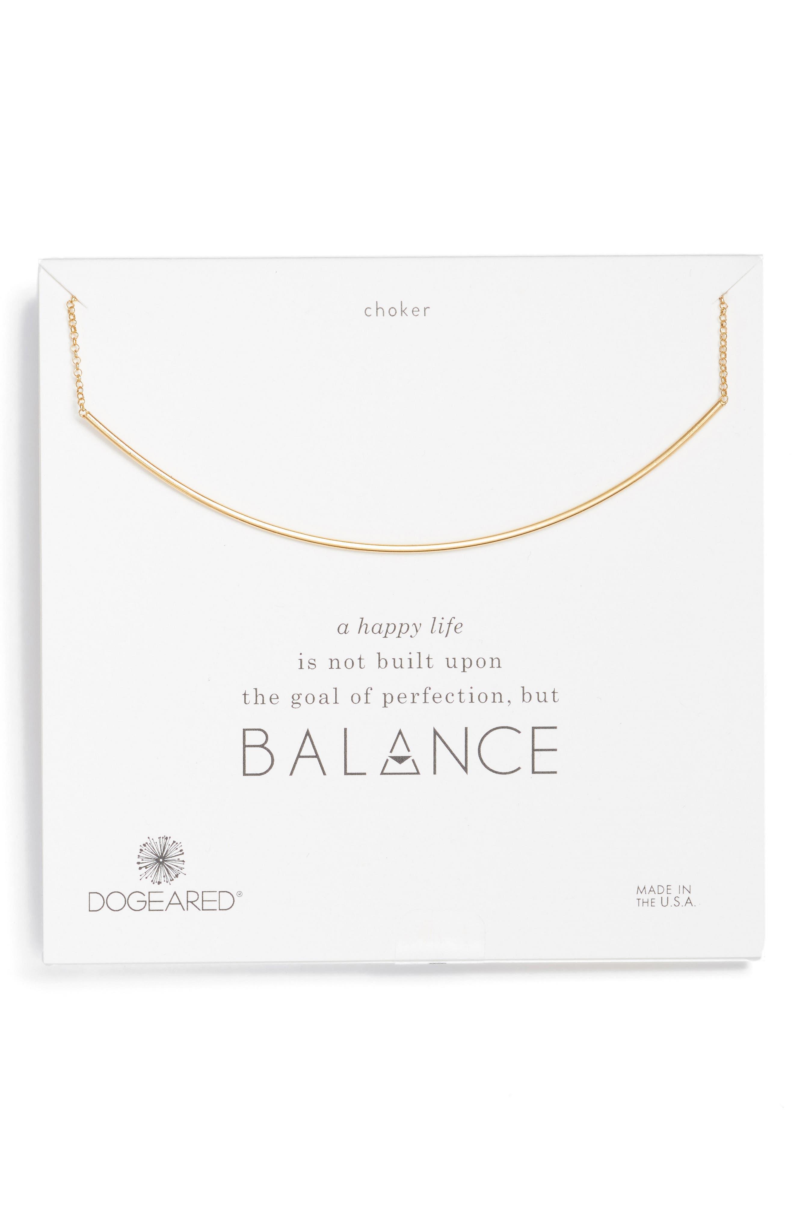 Dogeared Balance Bar Choker Necklace